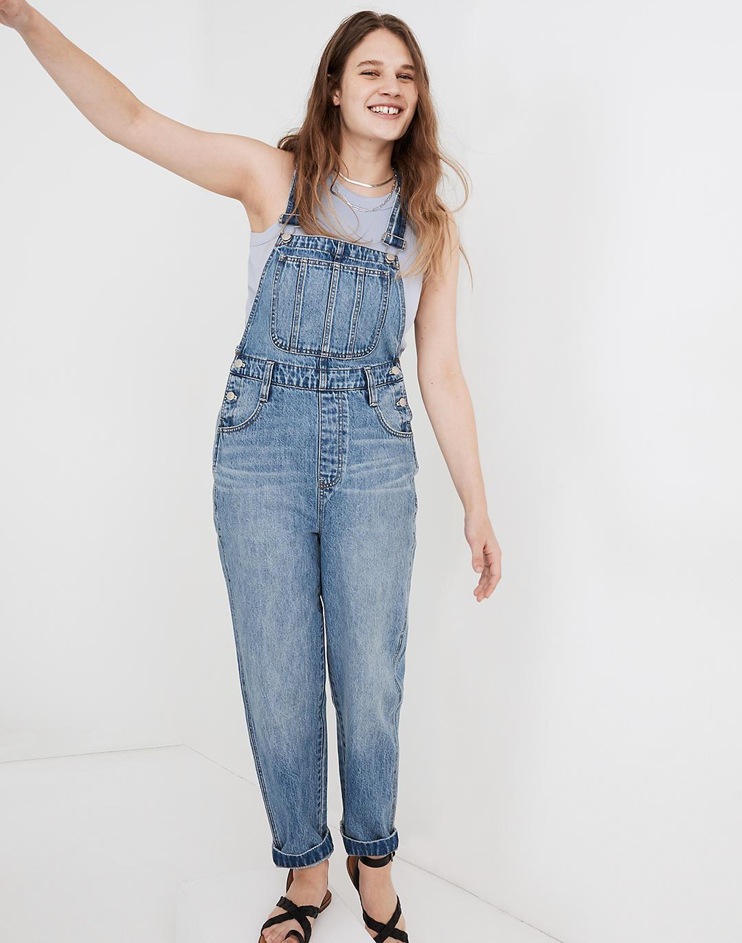 Baggy Tapered Overalls in Doran Wash