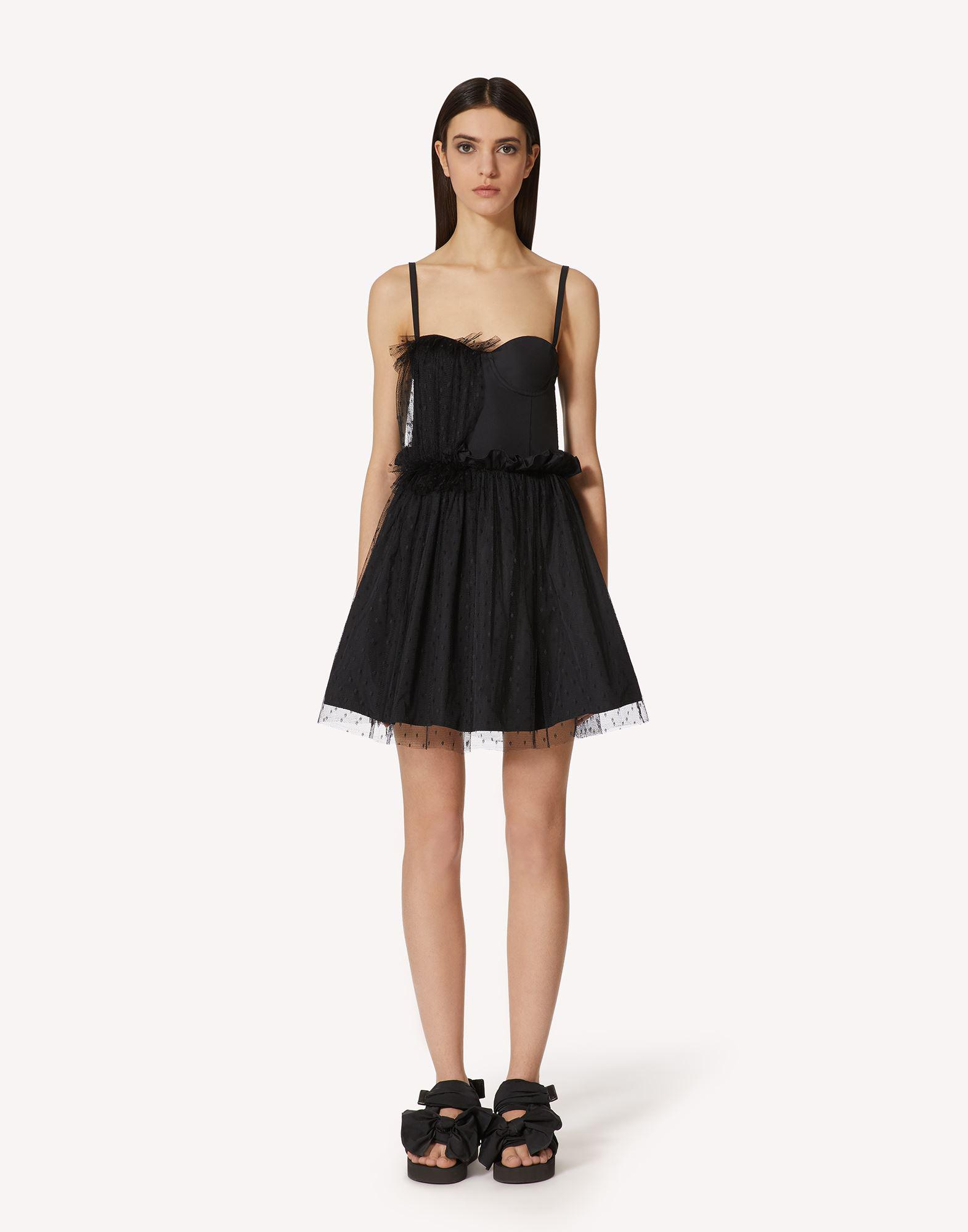 """""""THE BLACK TAG"""". - TAFFETA AND POINT D'ESPRIT TULLE DRESS"""