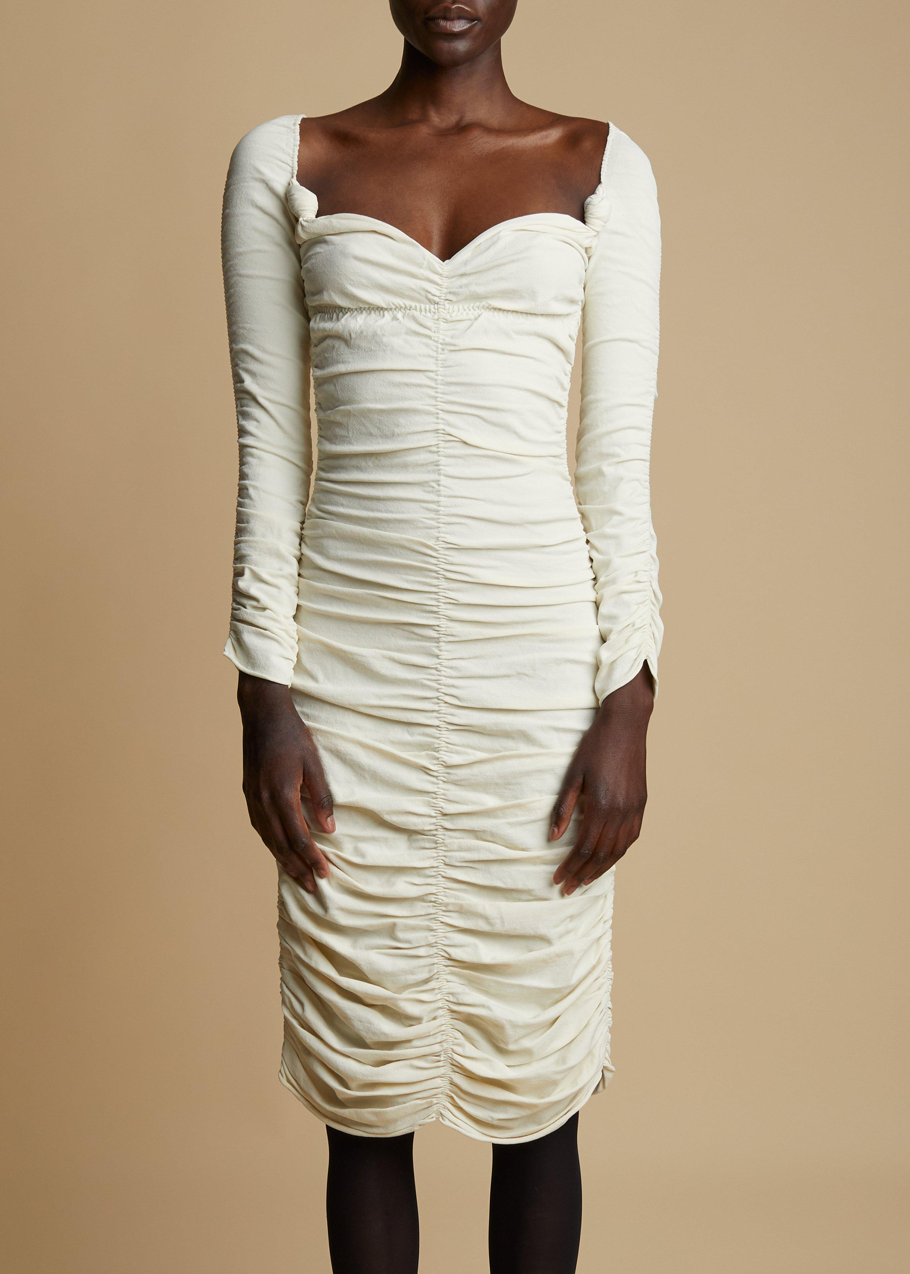 The Charmaine Dress in Ivory 1
