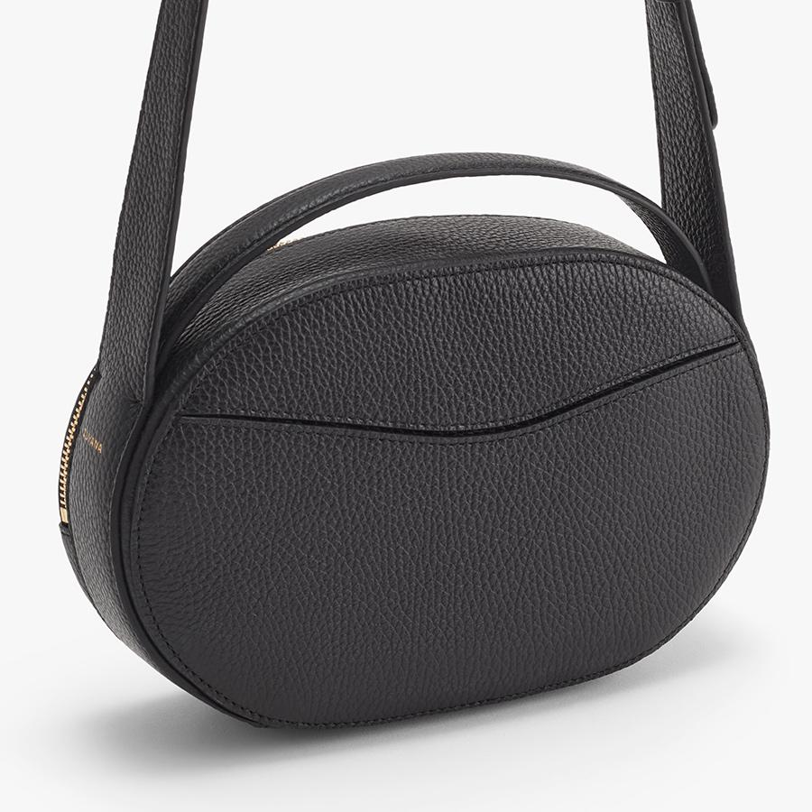 Women's Top Handle Crossbody Bag in Black   Pebbled Leather by Cuyana 2