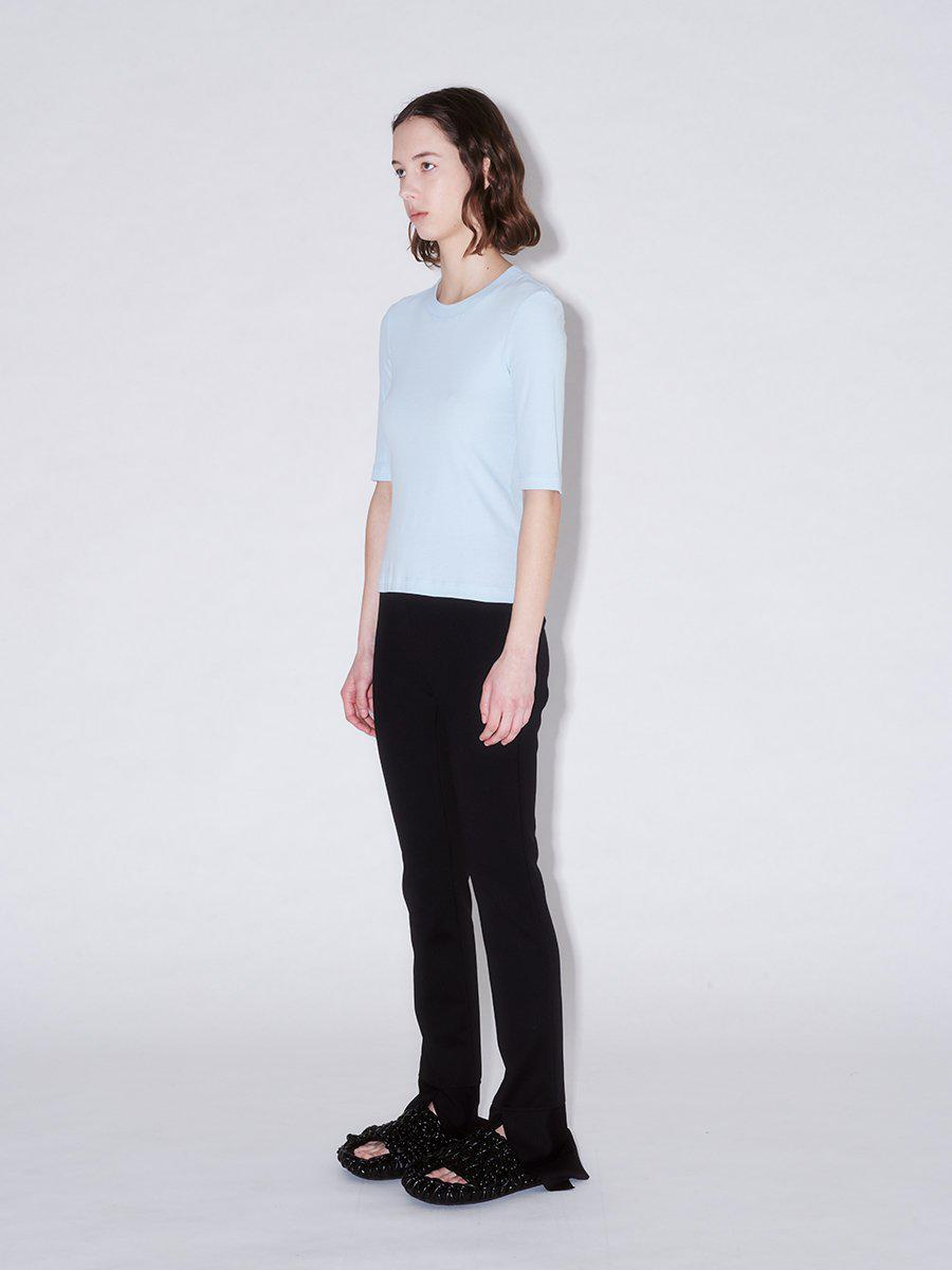Cropped Sleeve T-Shirt 1