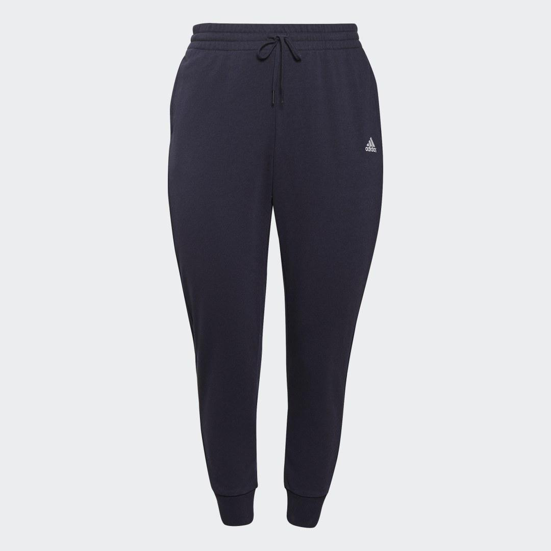 Essentials French Terry Logo Pants (Plus Size) Dark Blue 5