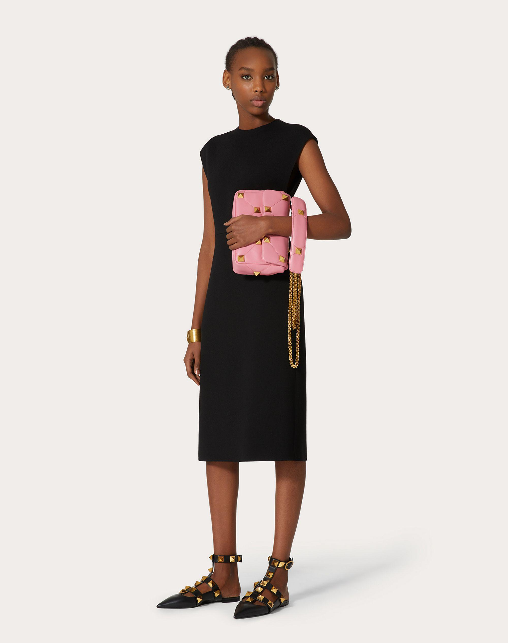 STRETCH CREPE COUTURE DRESS
