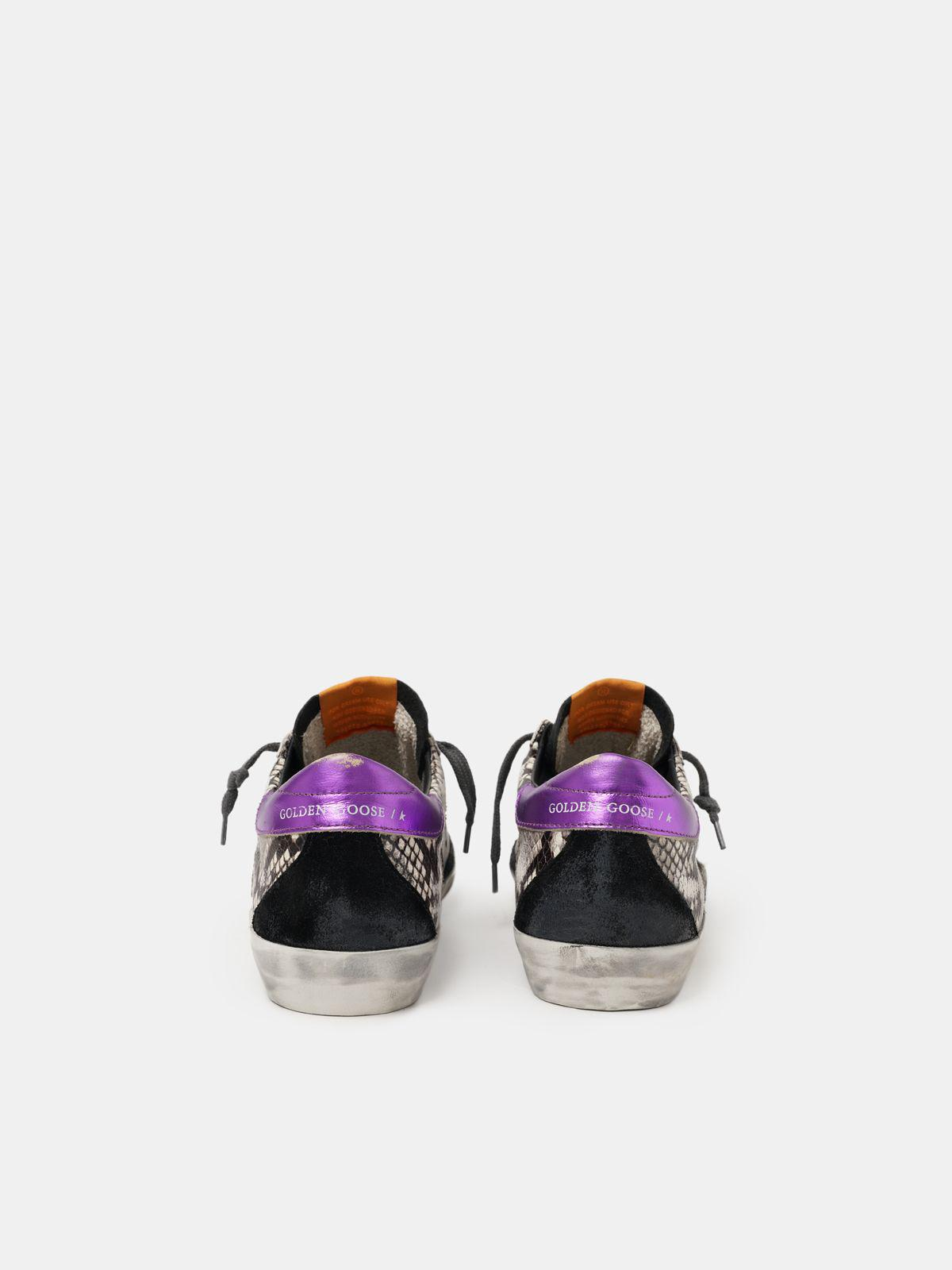 Women's Limited Edition LAB snake-print Super-Star sneakers with purple heel tab 1