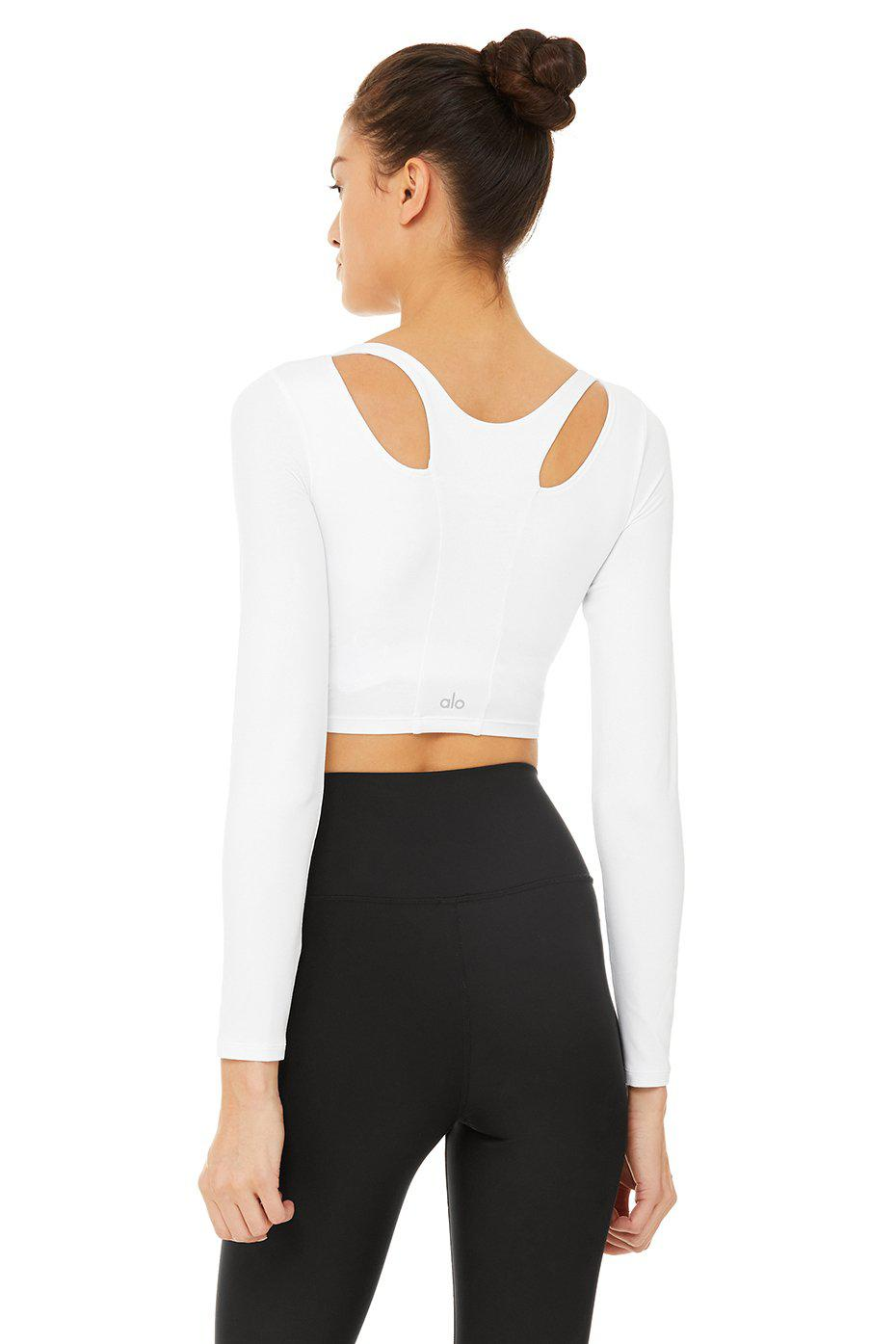 Arch Long Sleeve Top - White 2