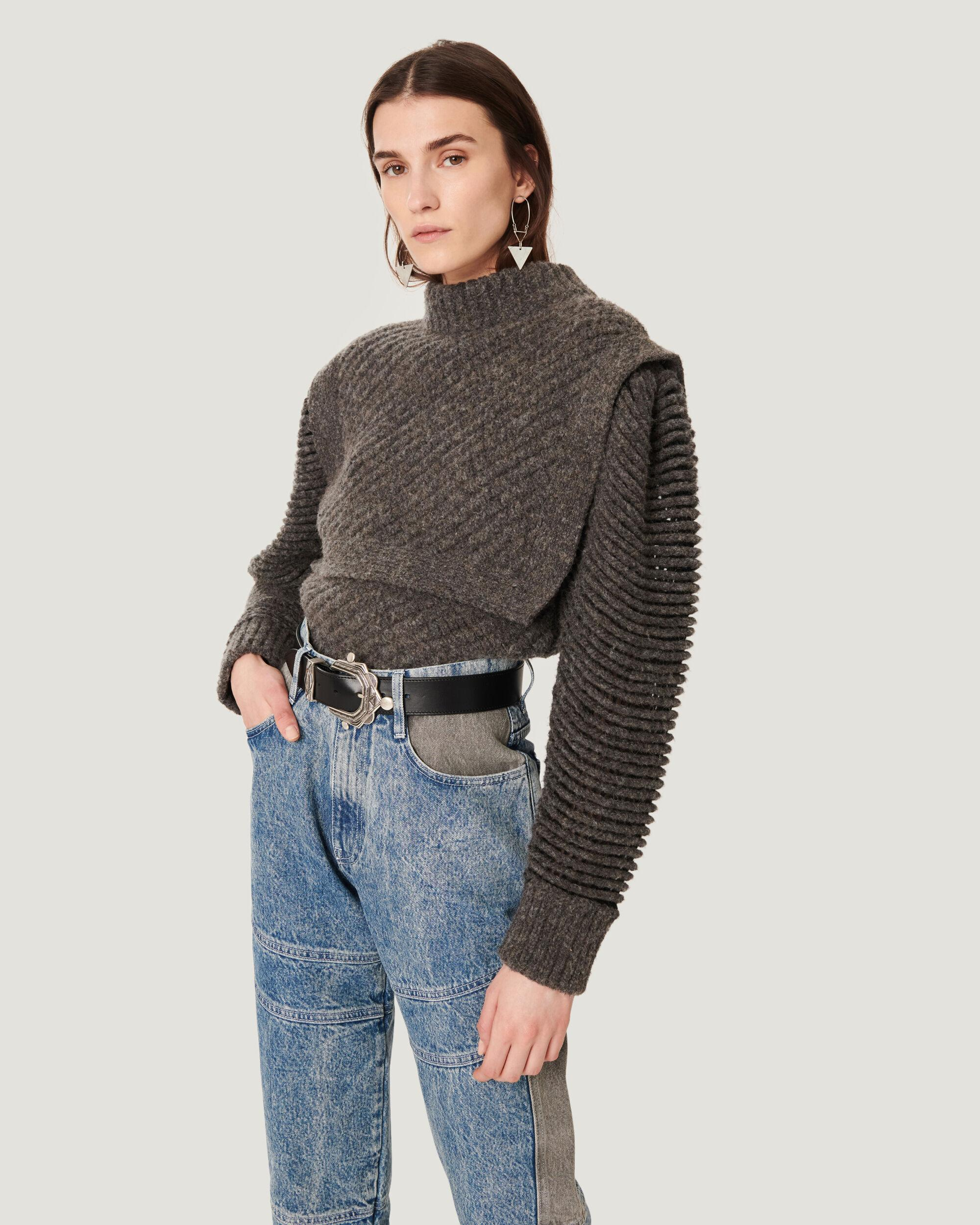 JALYA STRUCTURED RIBBED SWEATER