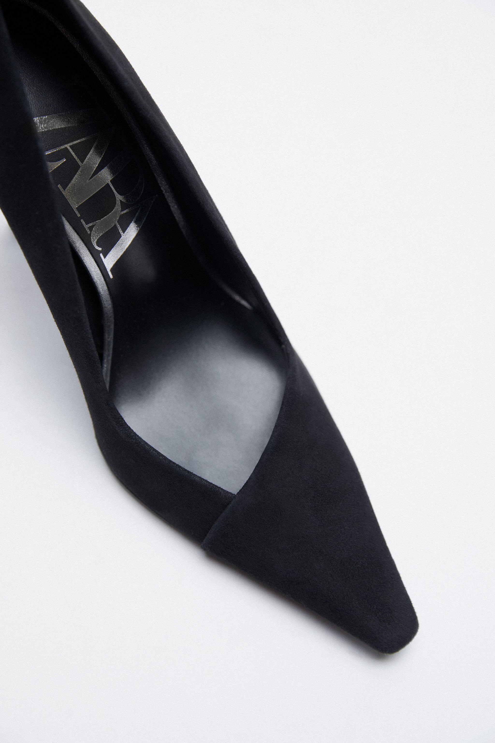 FAUX SUEDE LEATHER HEELS 4