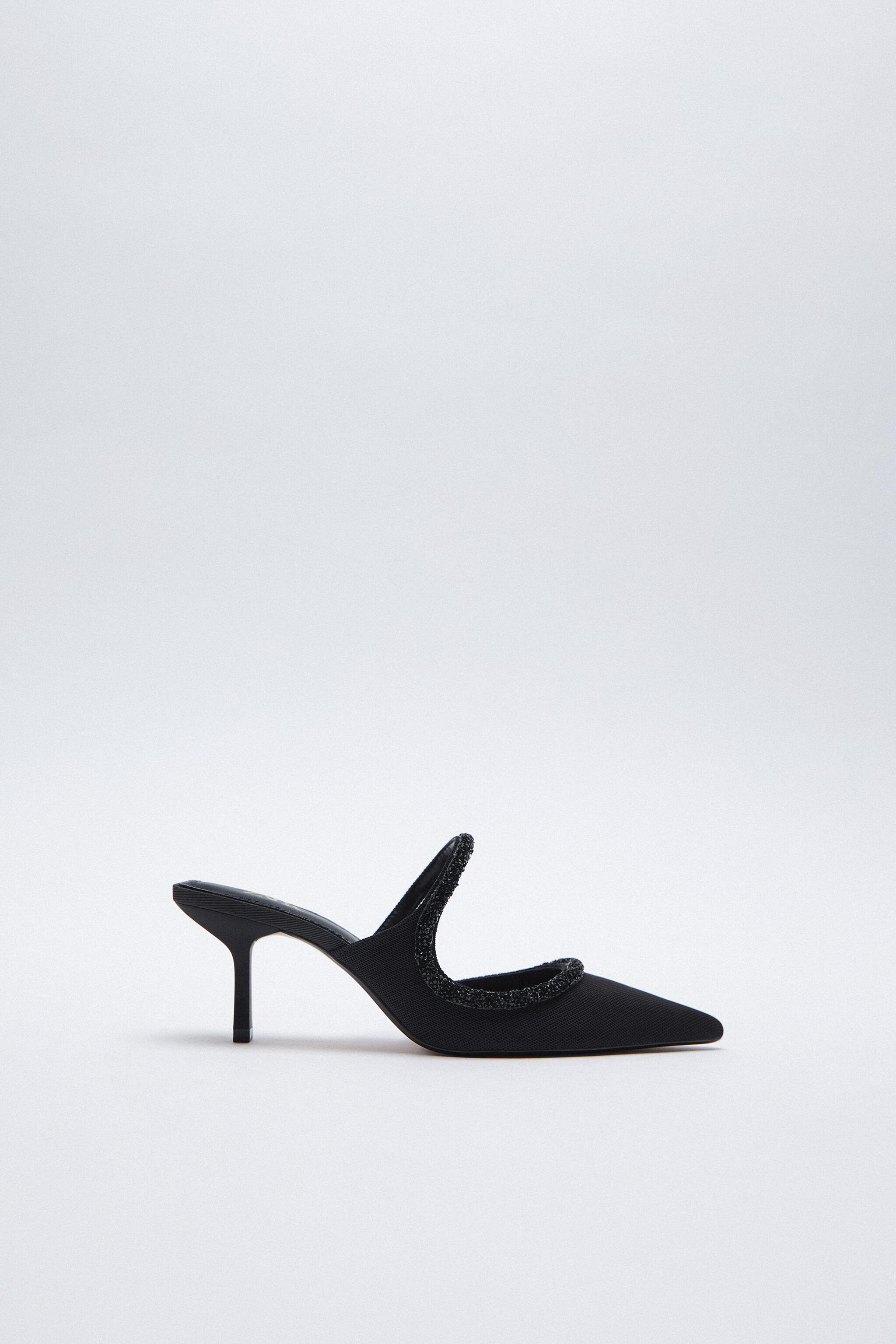 SPARKLY POINTED TOE HEELED SHOES