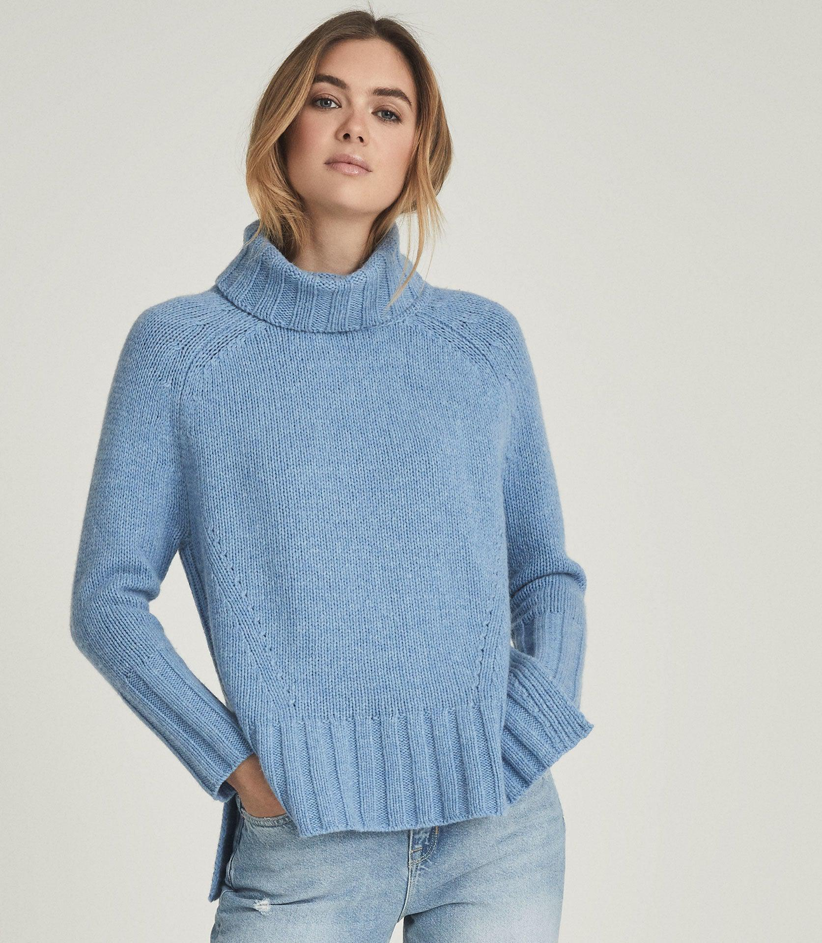EVE - WOOL CASHMERE BLEND ROLL NECK 2
