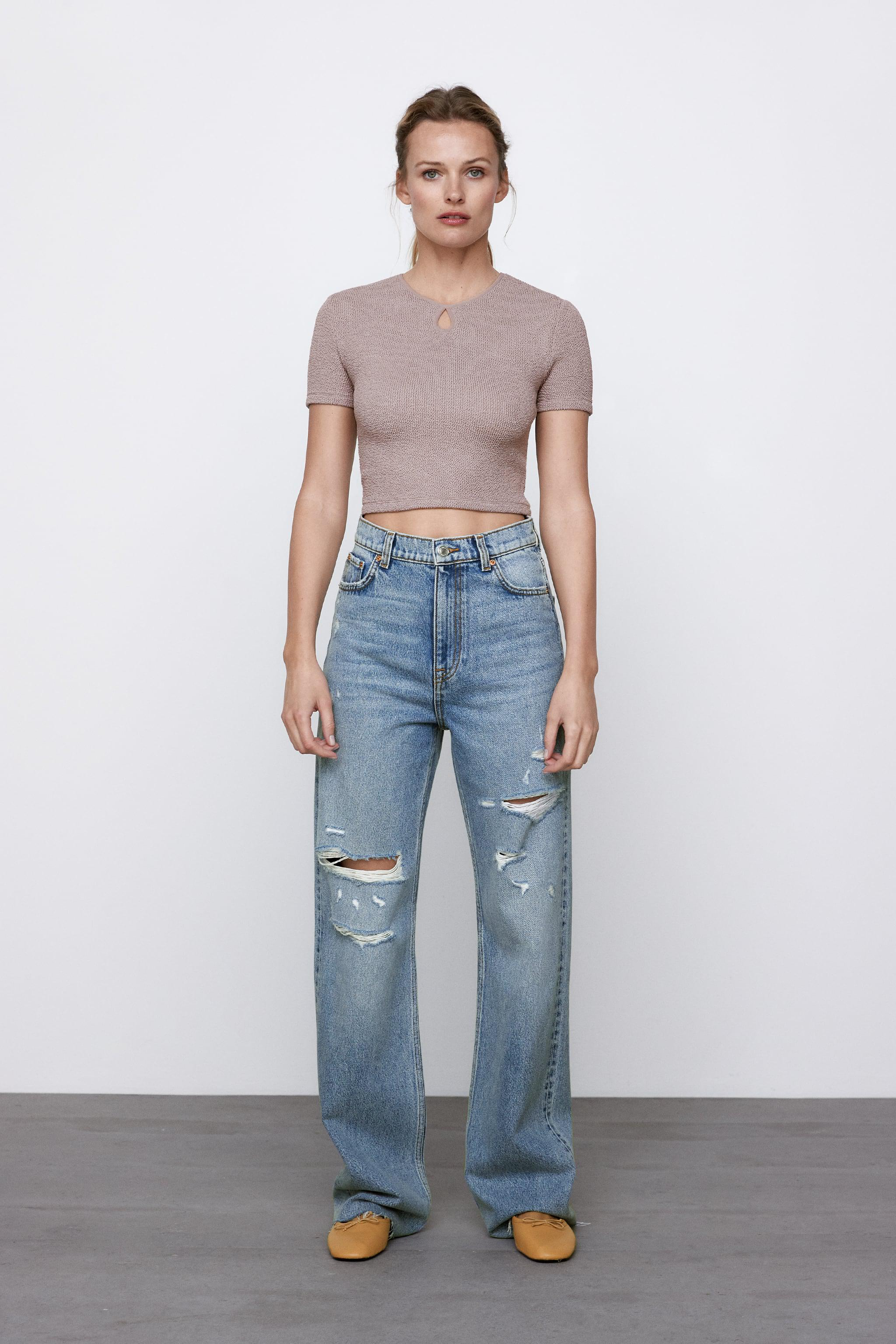 CROPPED TEXTURED WEAVE SHIRT 0