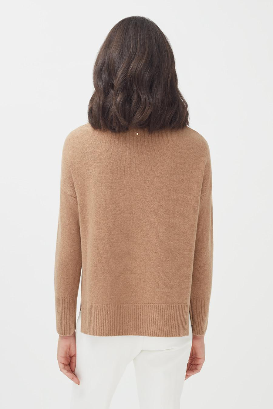 Women's Recycled Crewneck Sweater in Camel | Size: 2