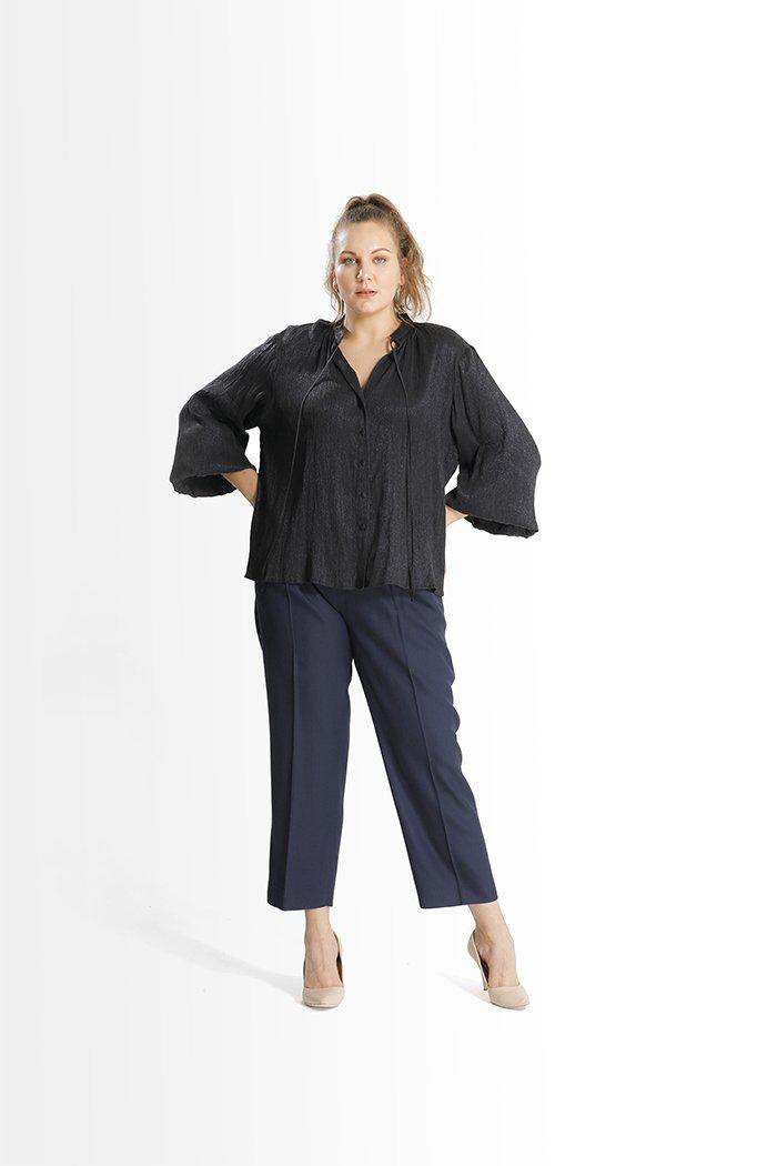 Andila Pleated Trousers // Navy