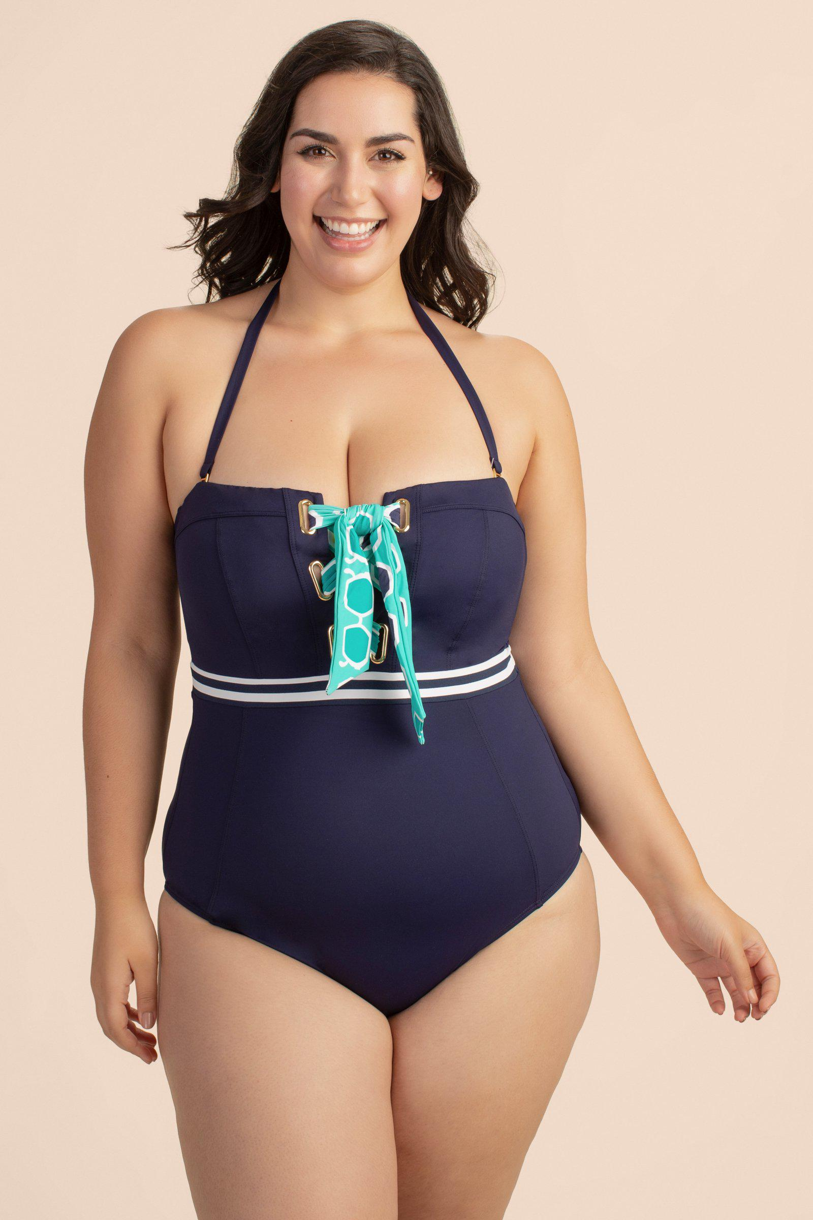 MADE IN THE SHADE PLUS BANDEAU ONE PIECE