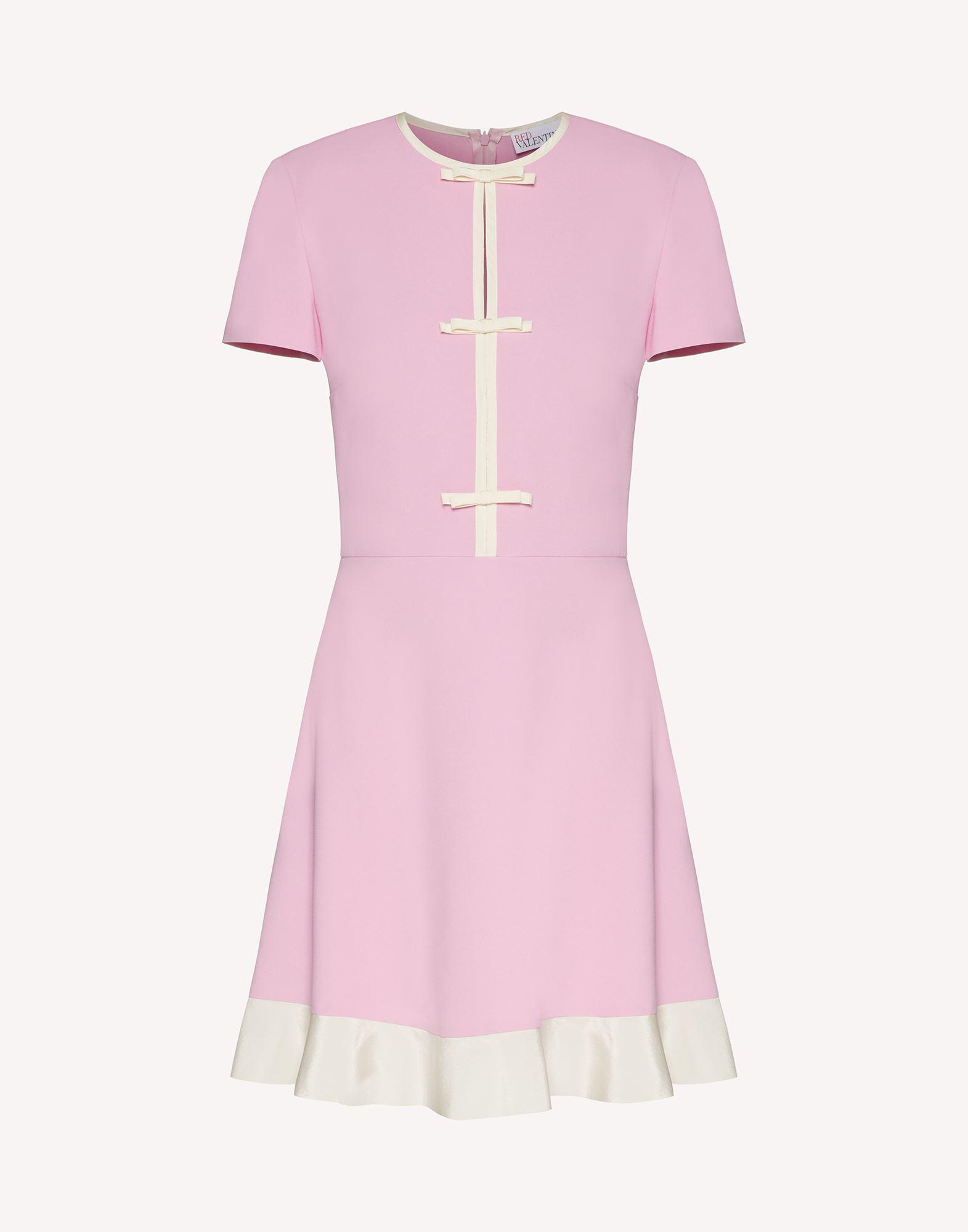 STRETCH FRISOTTINE DRESS WITH BOW DETAILS 4