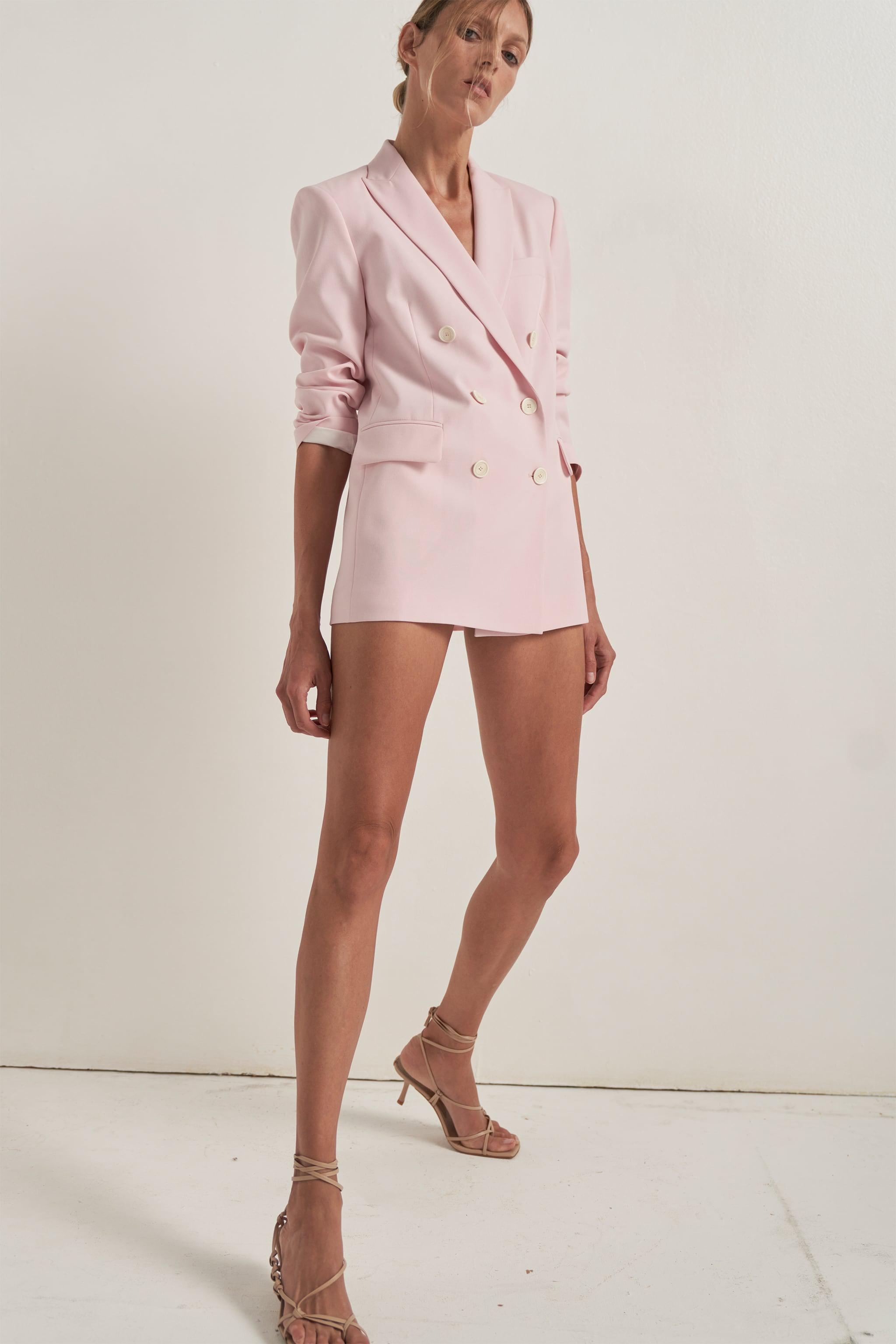 DOUBLE BREASTED BLAZER WITH POCKETS
