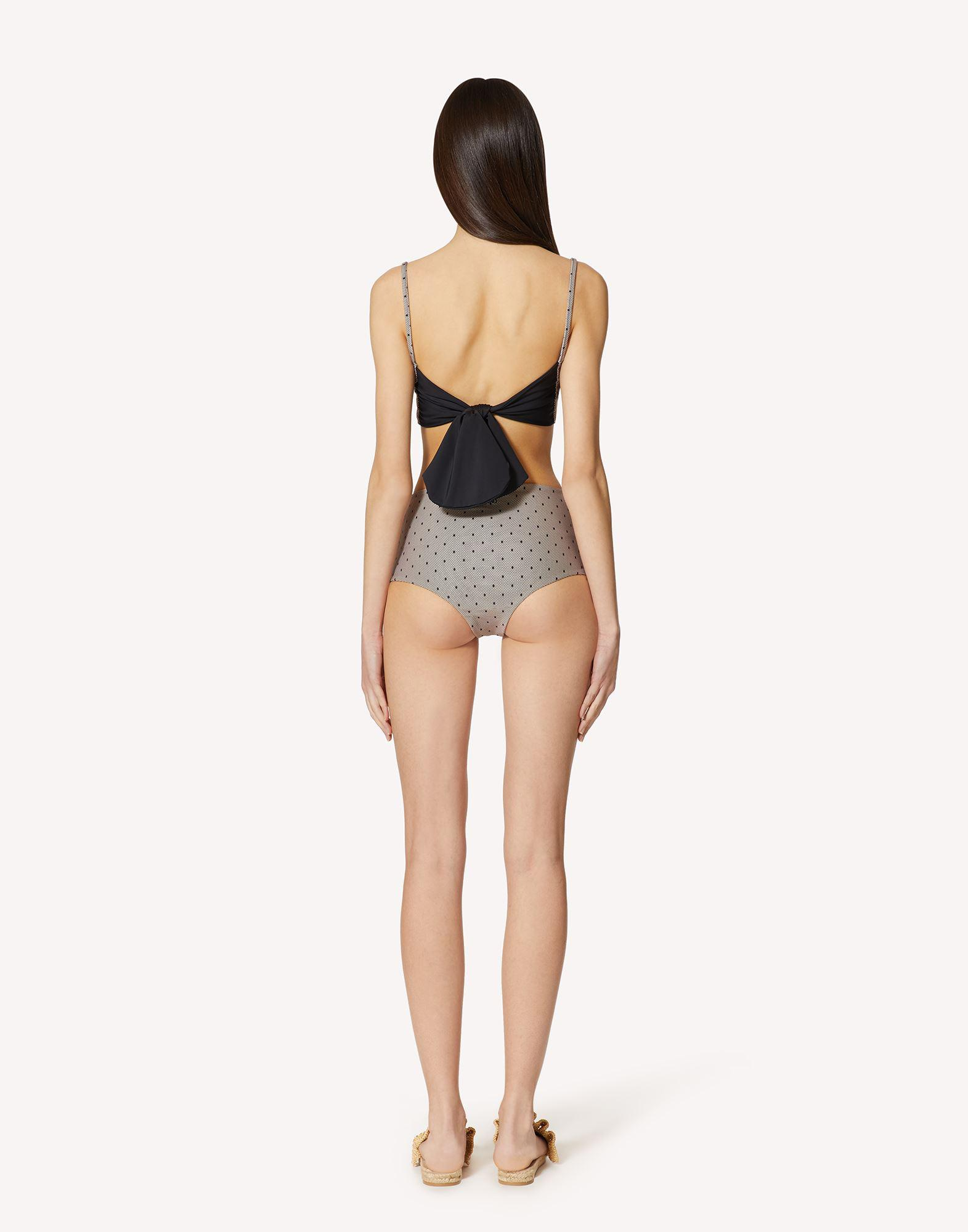 POINT D'ESPRIT TULLE PRINTED SWIMSUIT 1