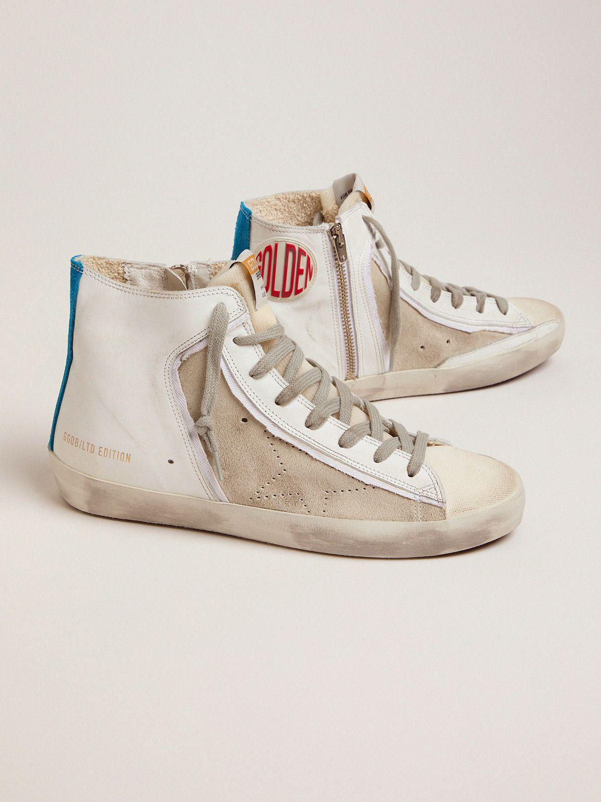 Women's Limited Edition blue and white Francy sneakers 1