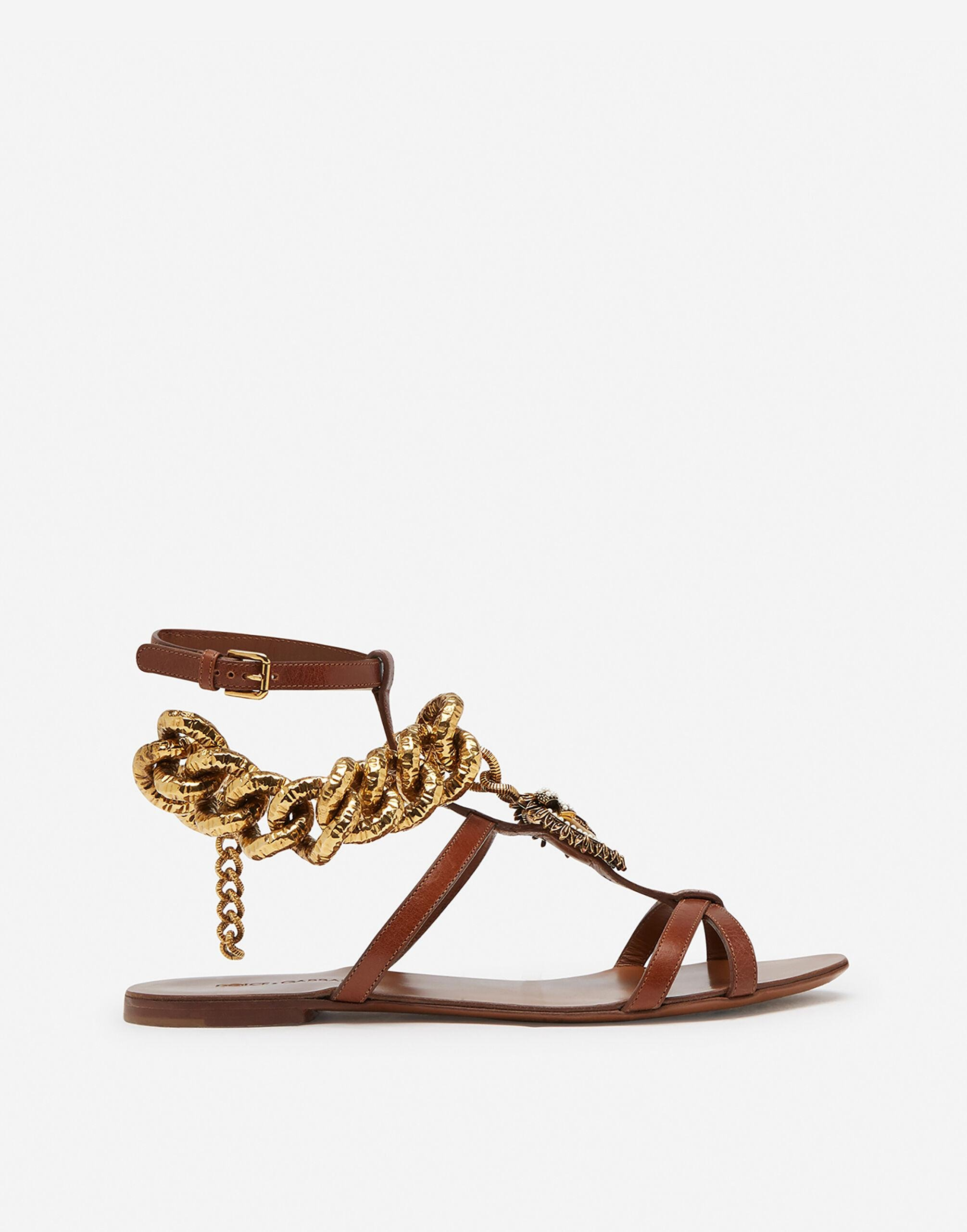 Devotion sandals in polished cowhide