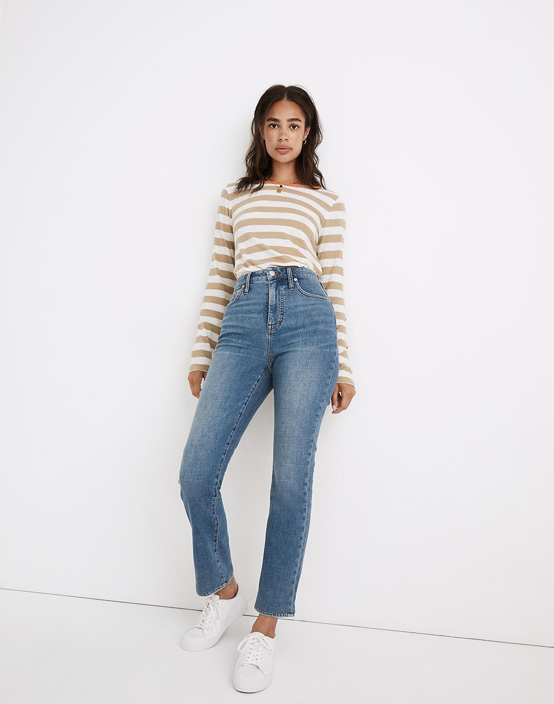 Curvy Slim Demi-Boot Jeans in Enright Wash