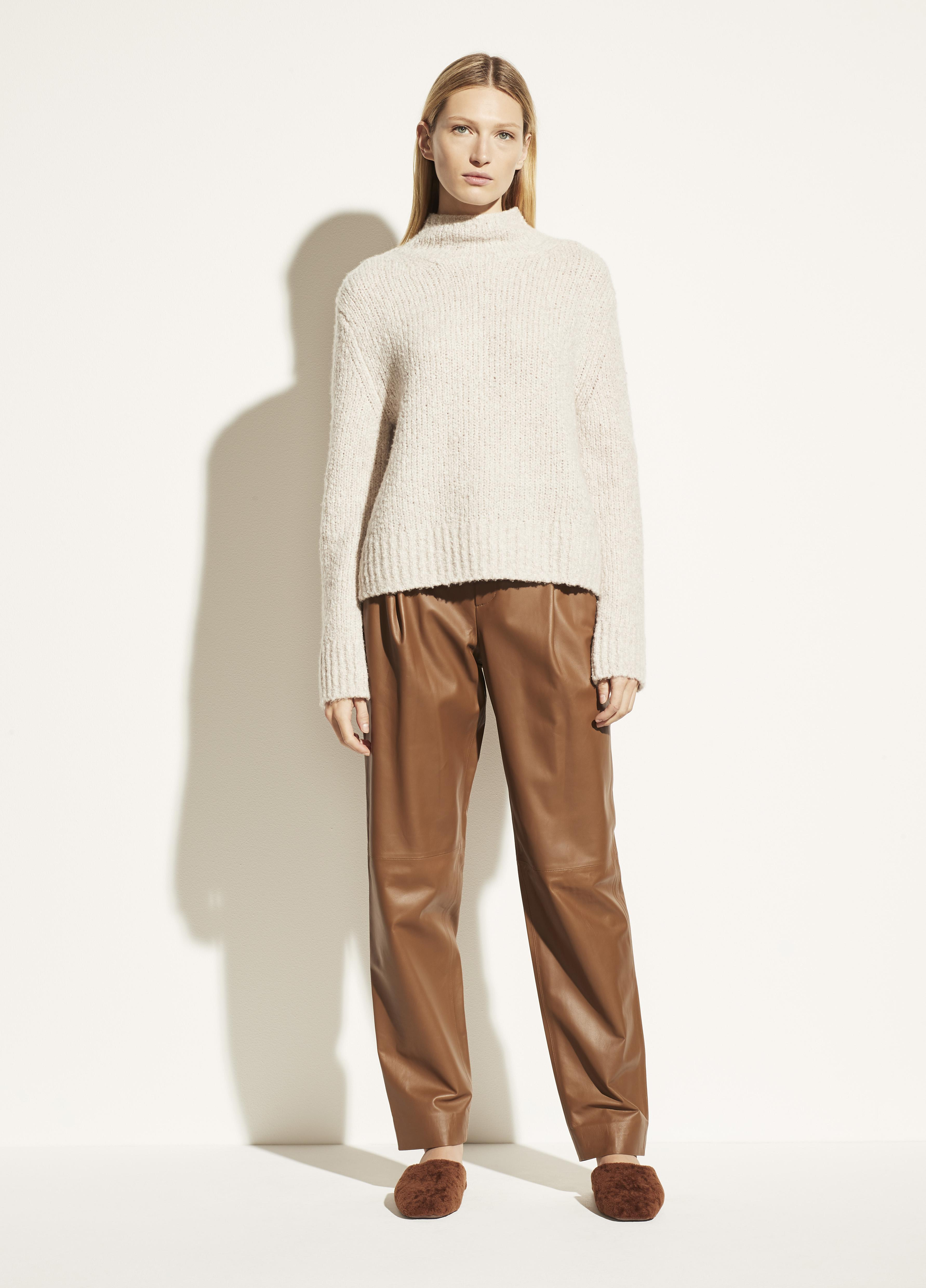 Textured Funnel Neck Pullover 2