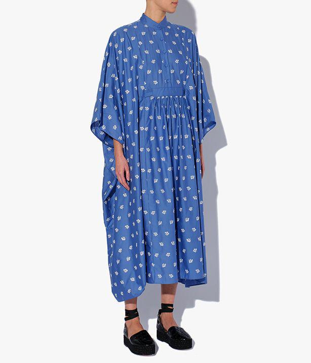 Antibes Dress Ditsy Embroidered Cotton Poplin