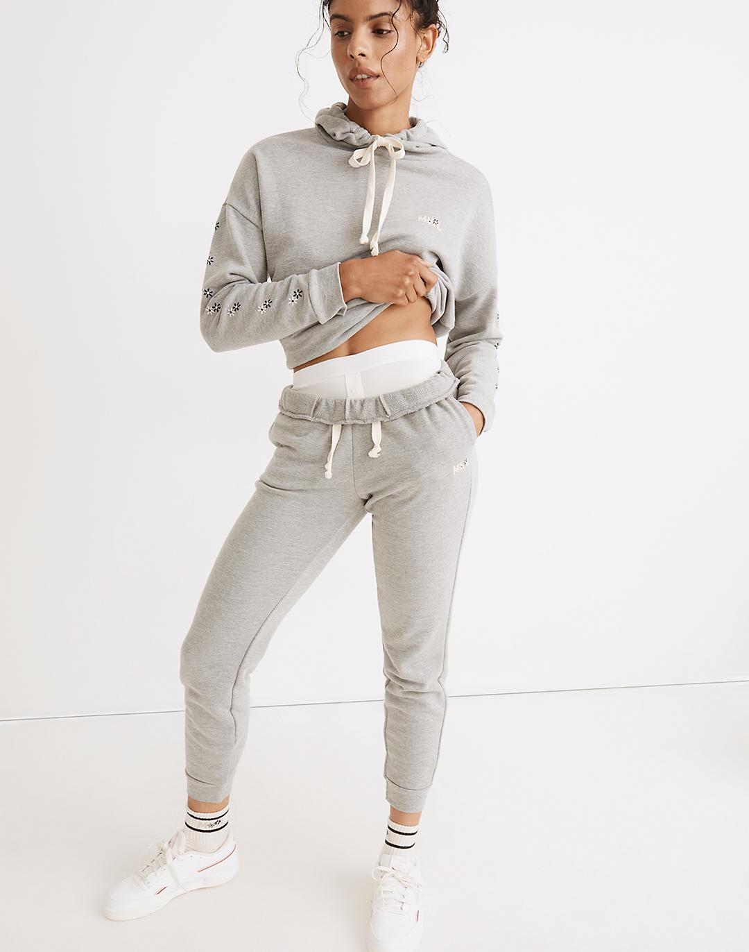 MWL Easygoing Sweatpants: Flower Embroidered Edition