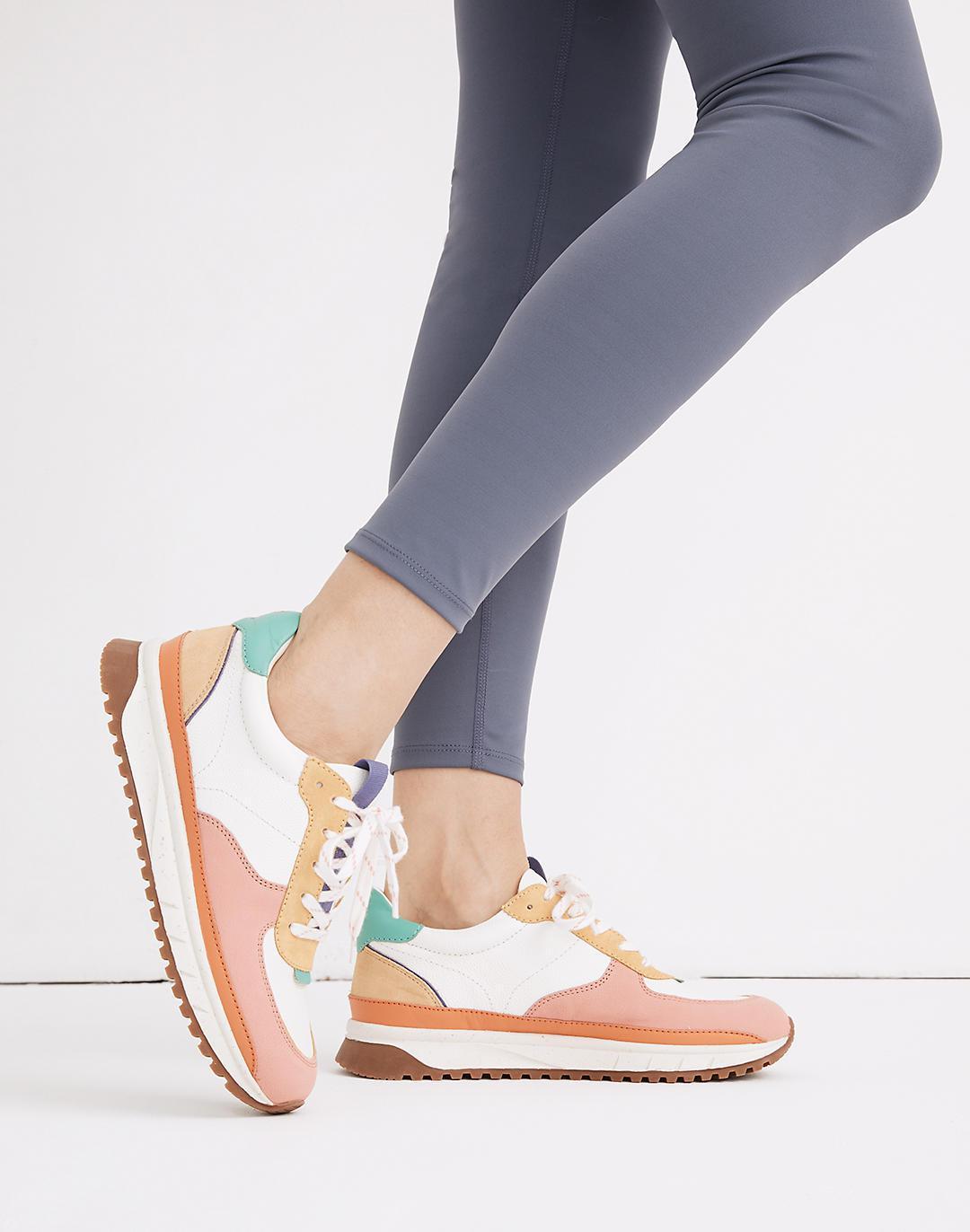 Kickoff Trainer Sneakers in Colorblock Leather 3