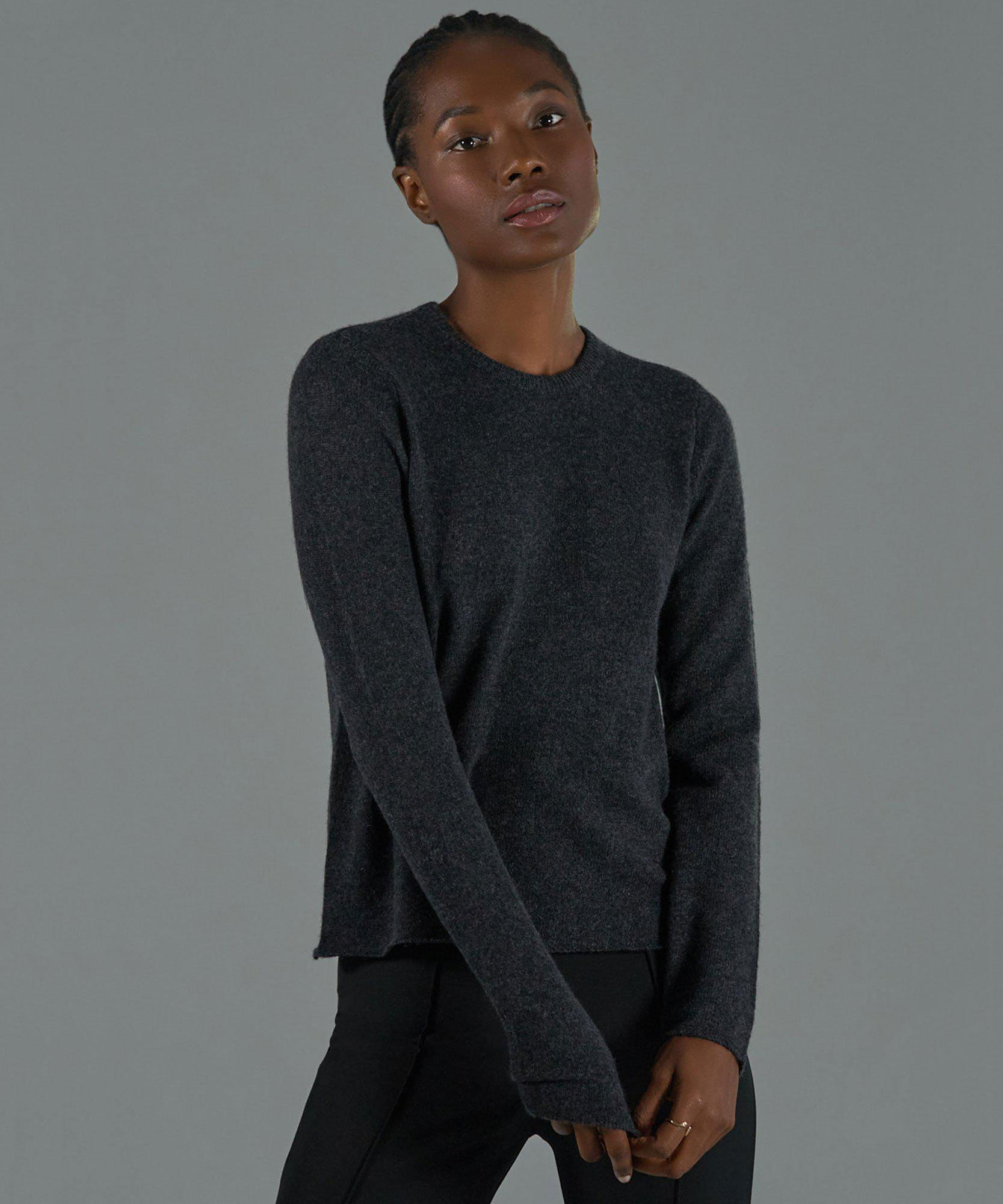 Cashmere Crew Neck Sweater - Charcoal
