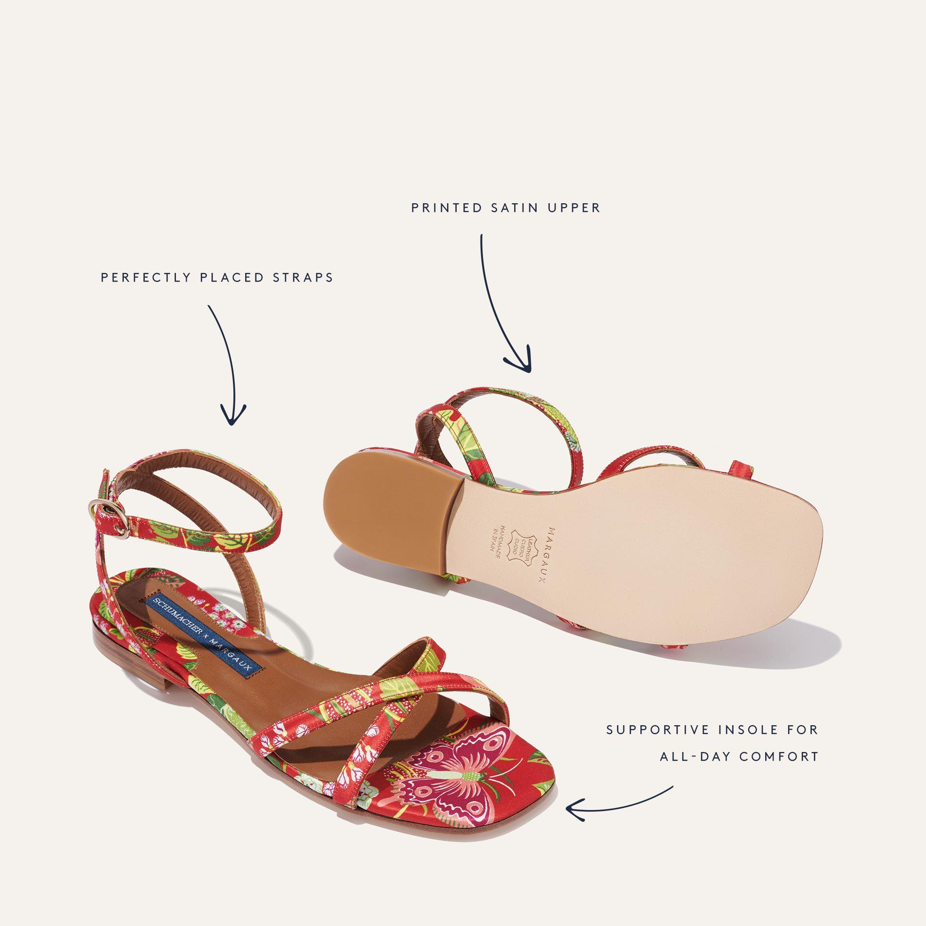 Schumacher x Margaux - The Flat Sandal in Exotic Butterfly 4
