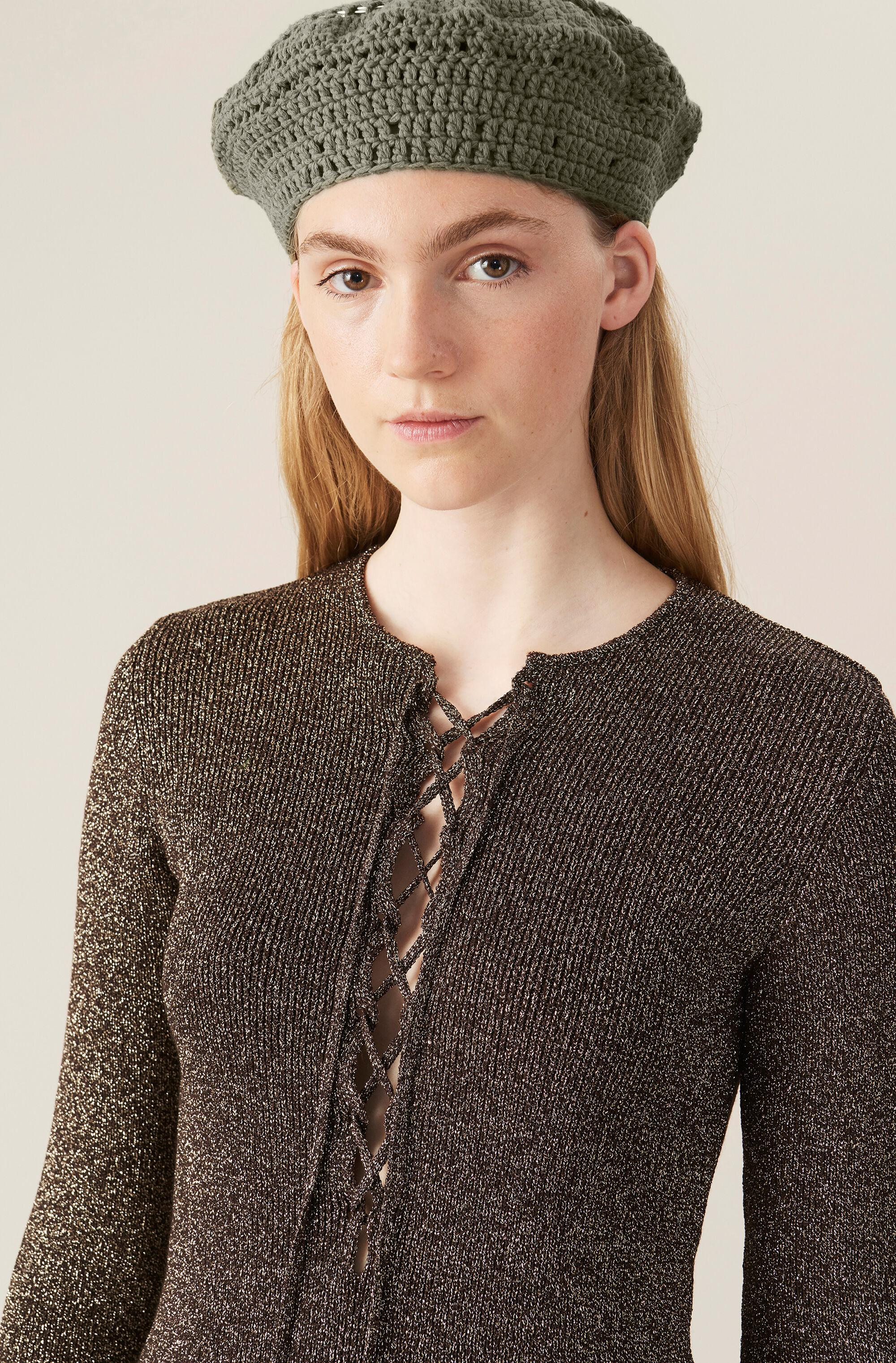 Glitter Knit Fitted Blouse 3