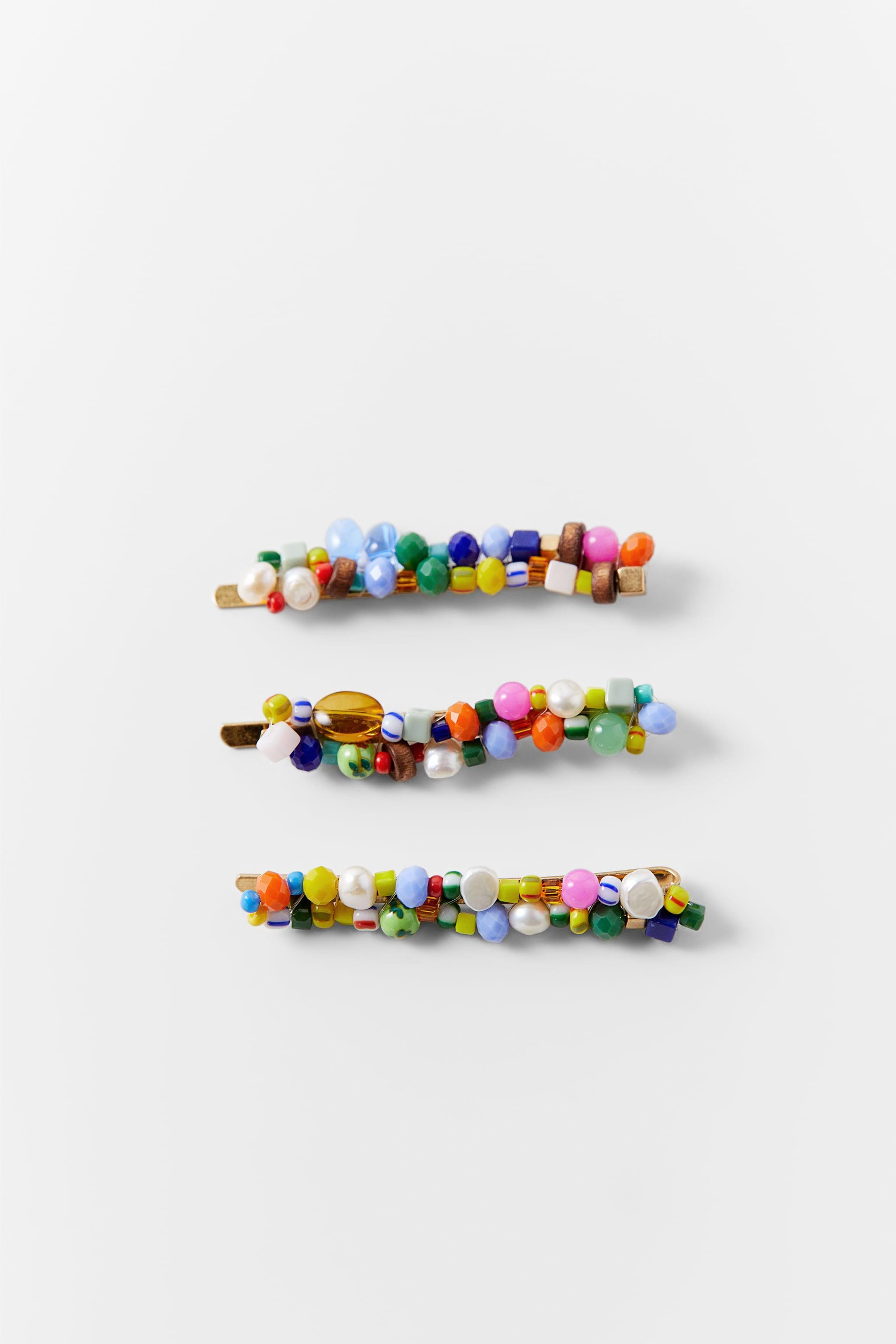 PACK OF BEADED BARRETTES