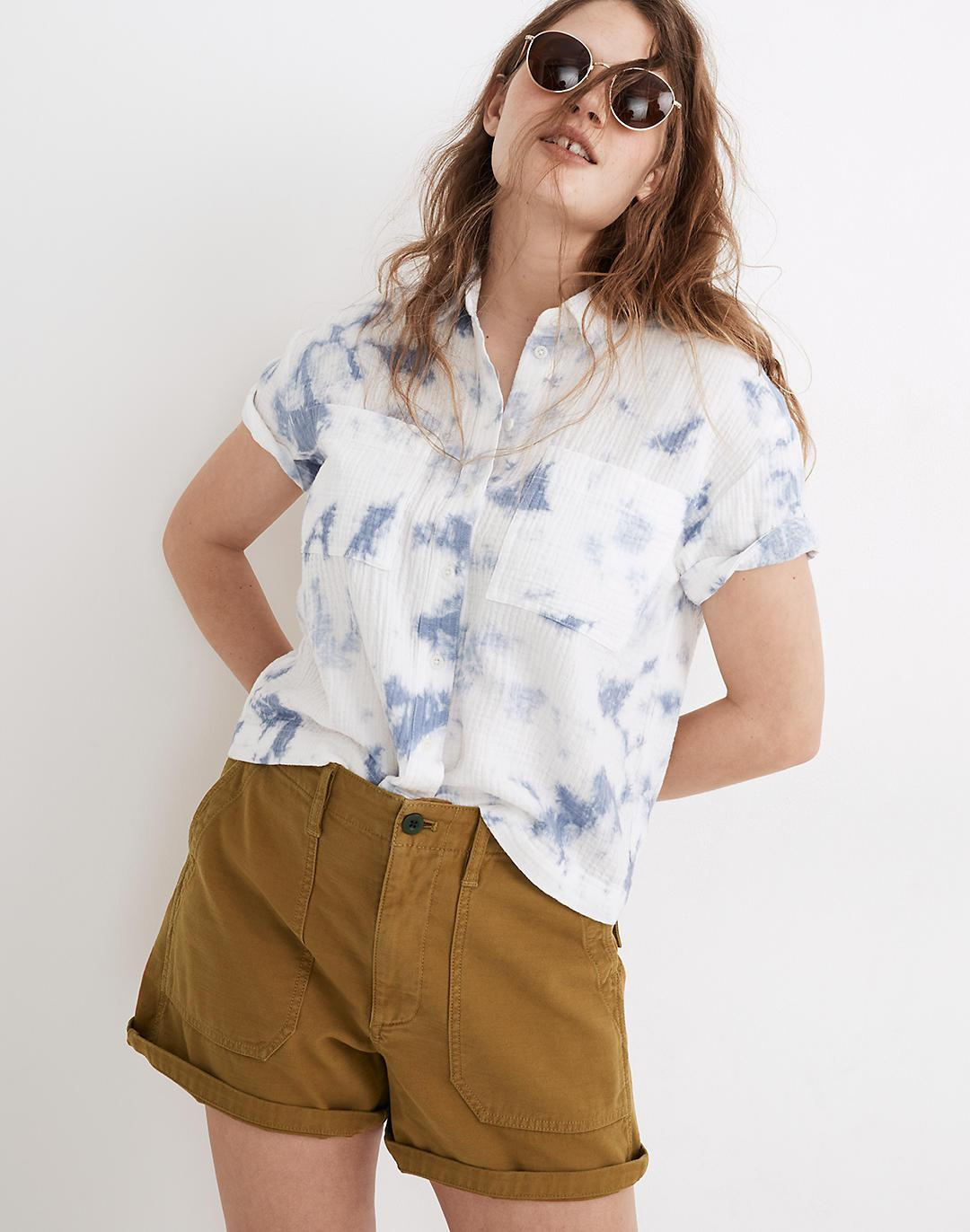 Relaxed Military Shorts