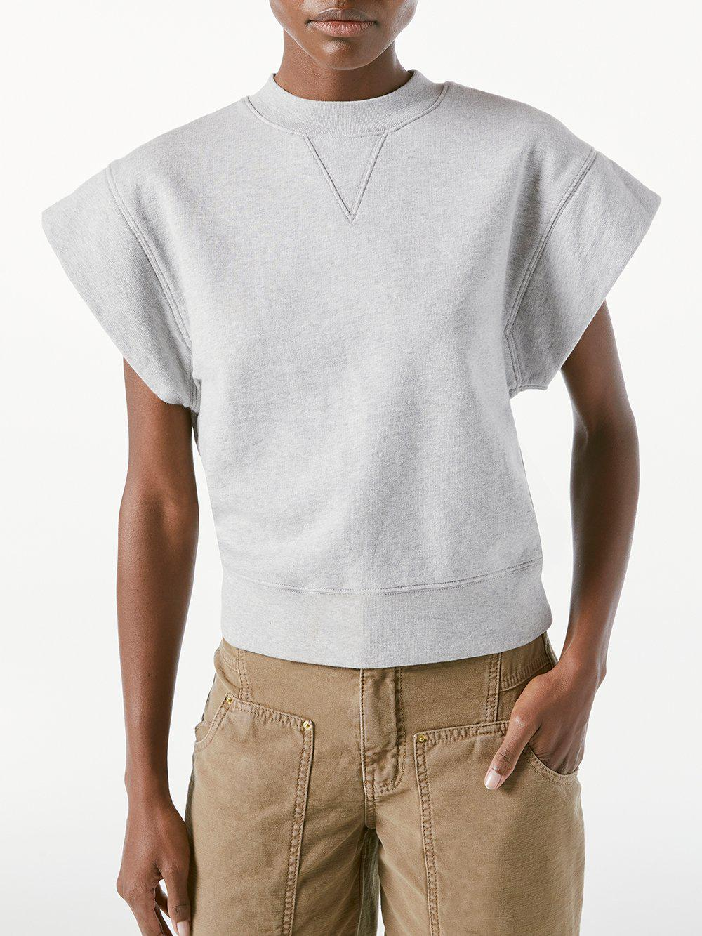 Oversized Muscle Crew -- Gris Heather