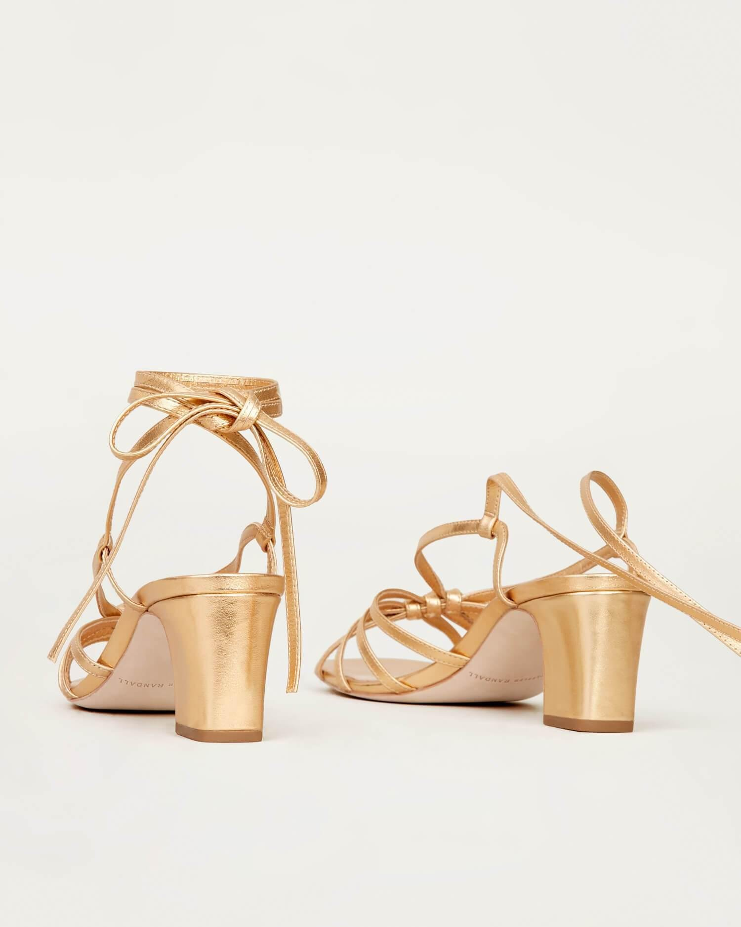 Libby Knotted Wrap Sandal Gold 1