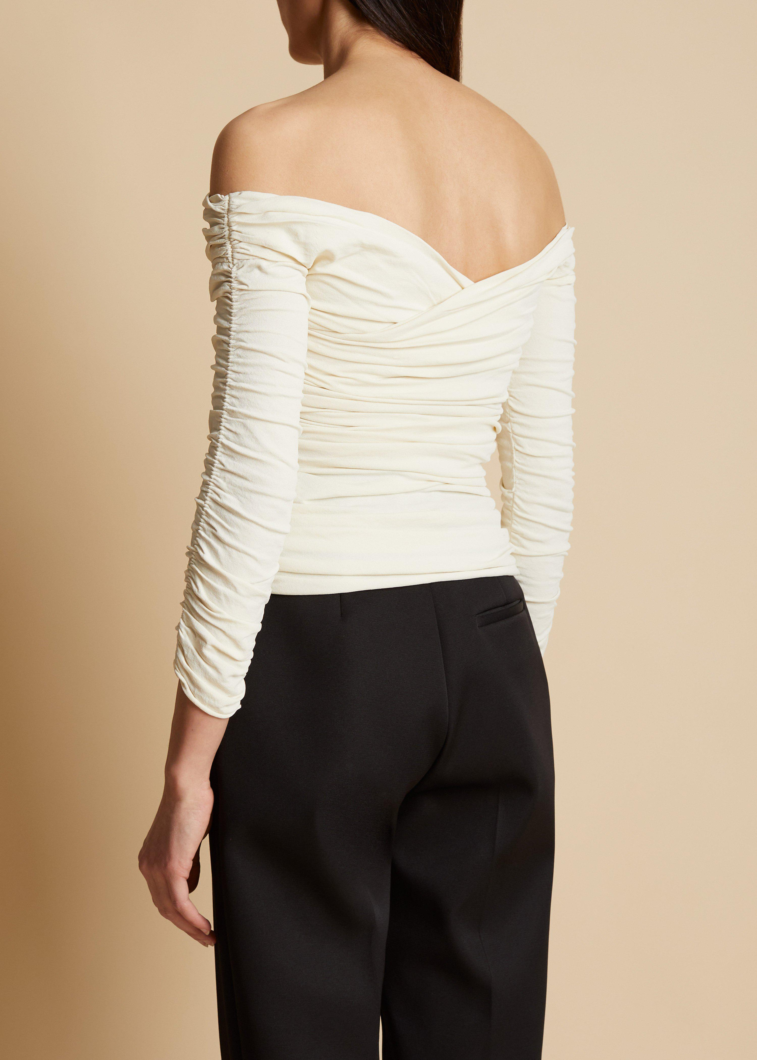 The Elsa Top in Ivory 4