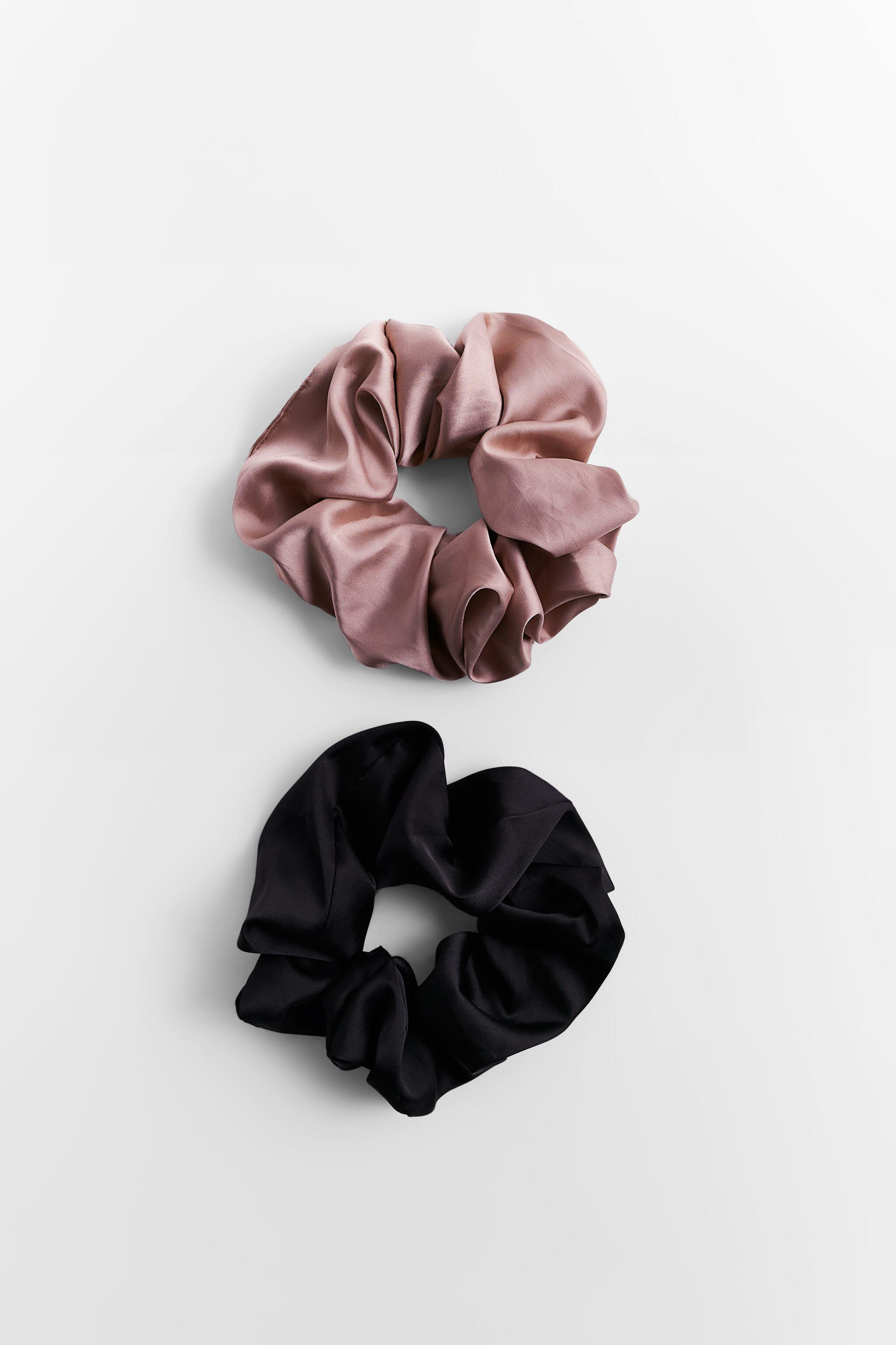 PACK OF SATIN EFFECT SCRUNCHIES