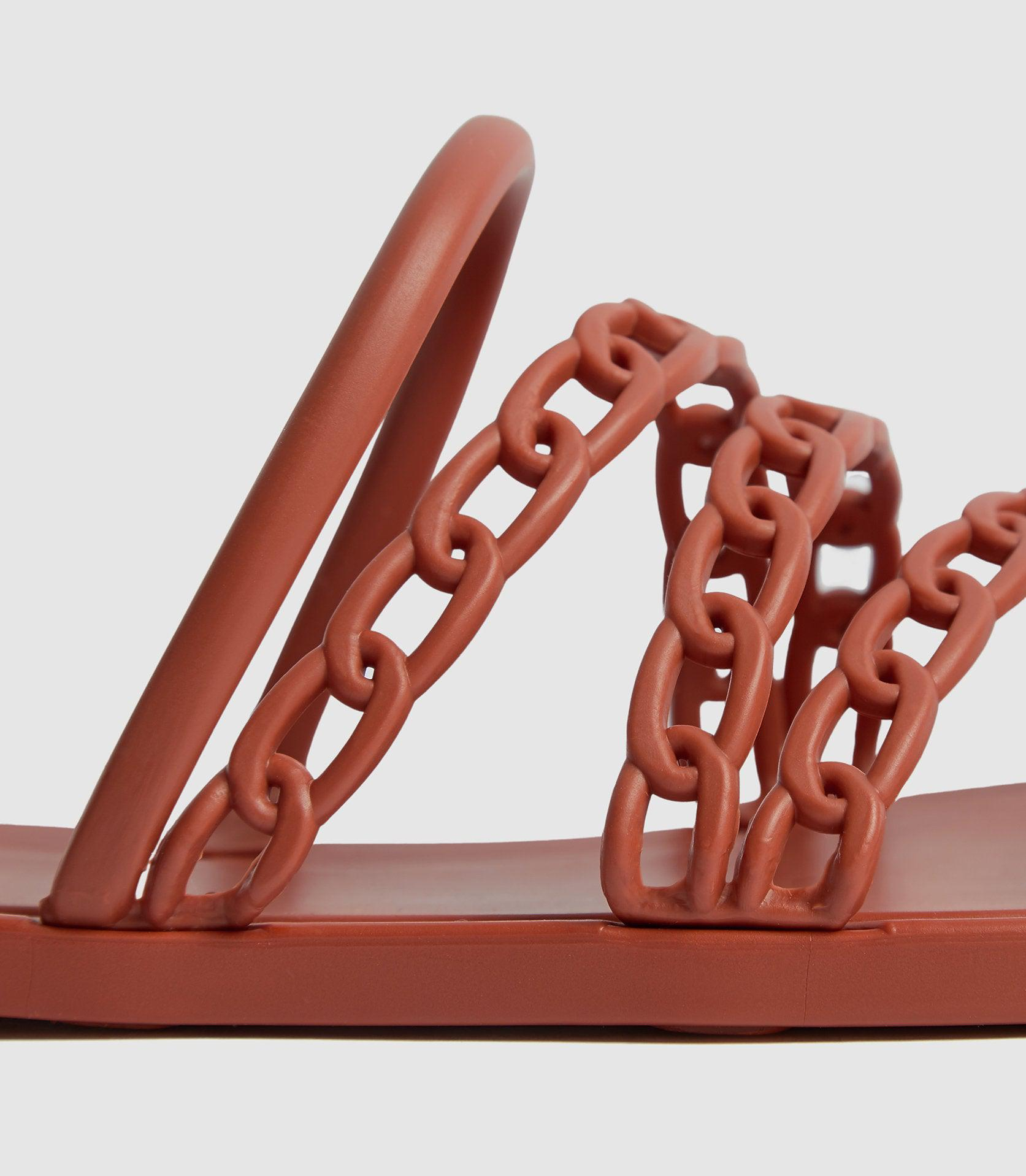 MAGDA - CHAIN DETAIL JELLY SANDALS 2