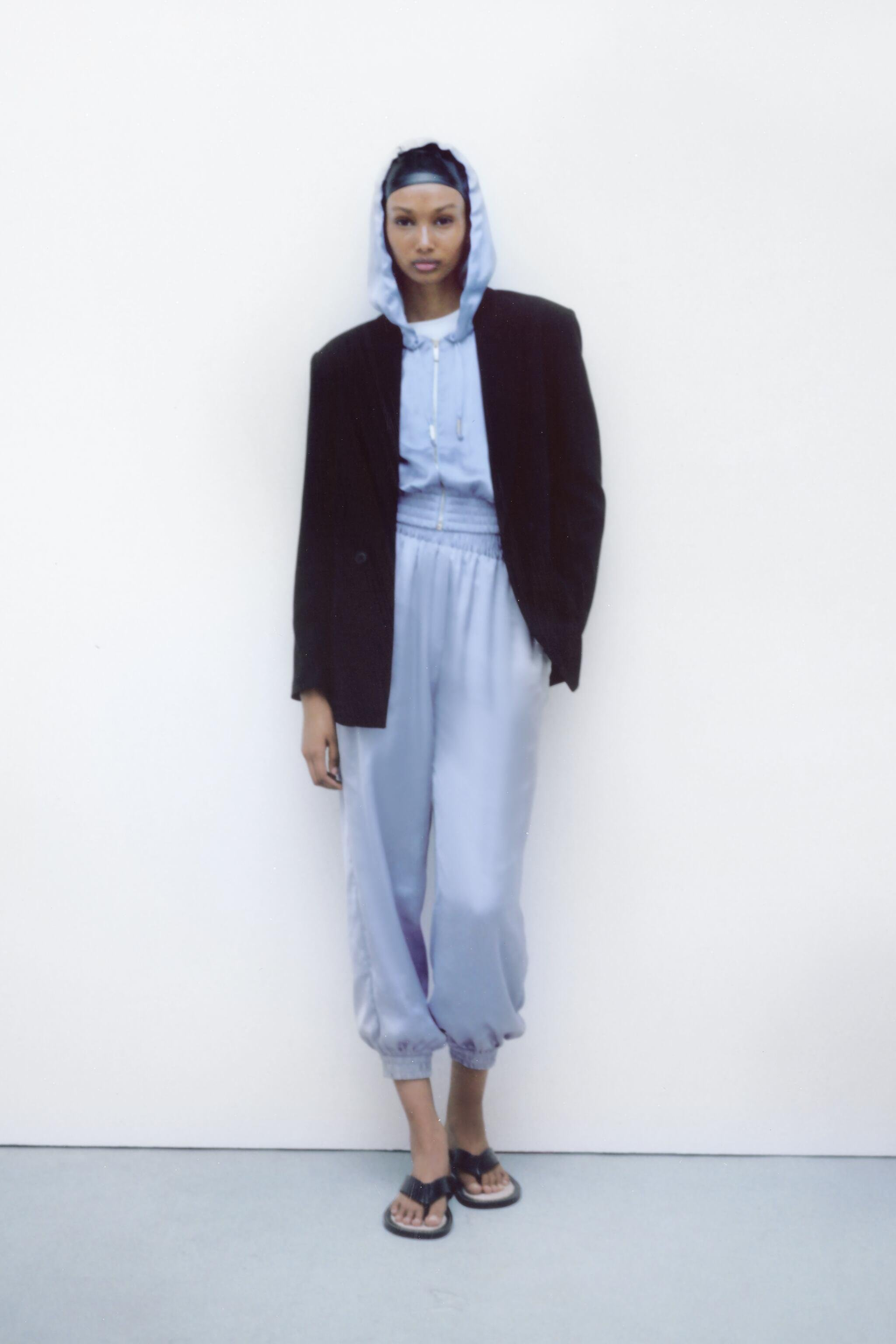 SATIN EFFECT PANTS WITH CUFFS 2