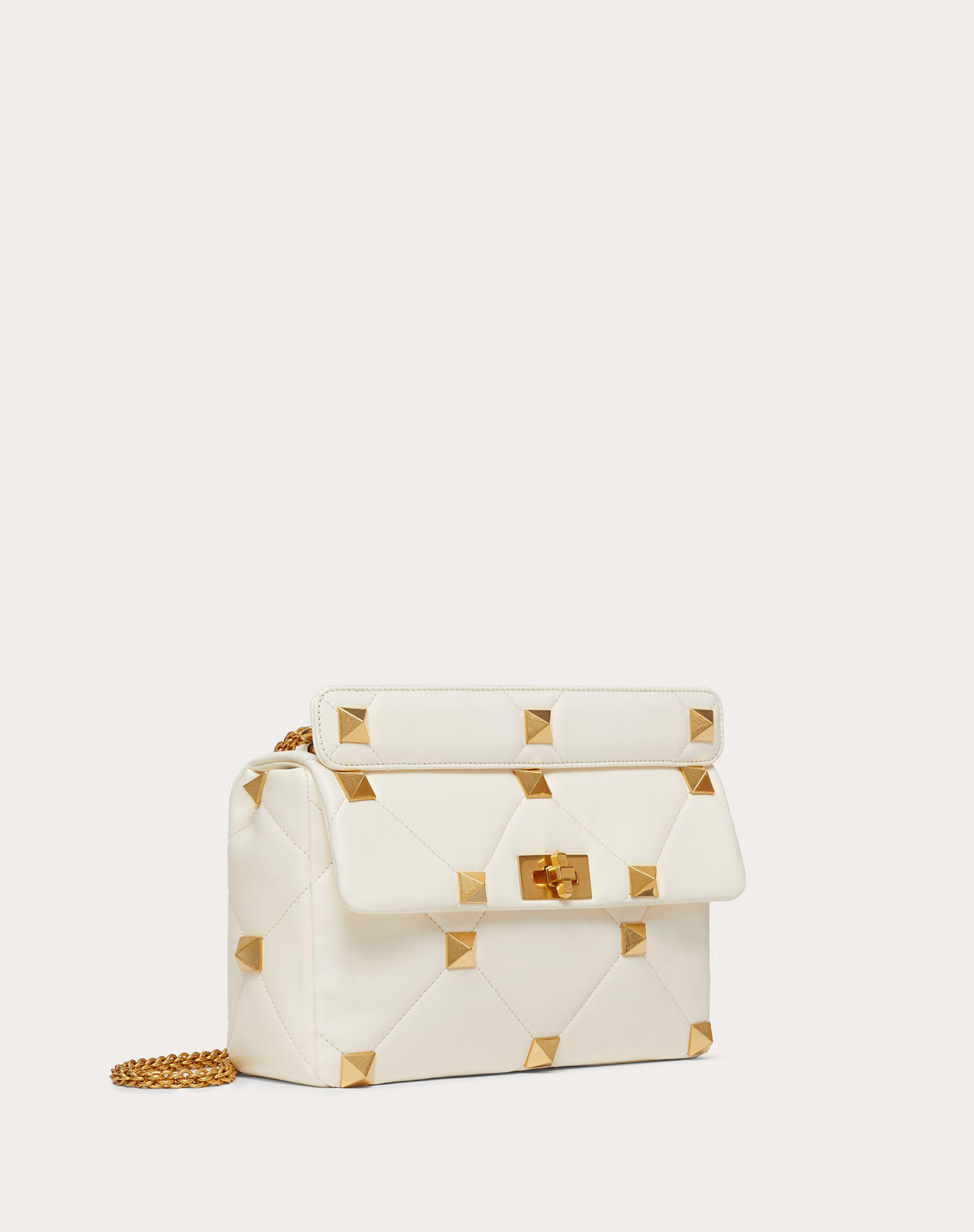 Large Roman Stud The Shoulder Bag in Nappa with Chain 1