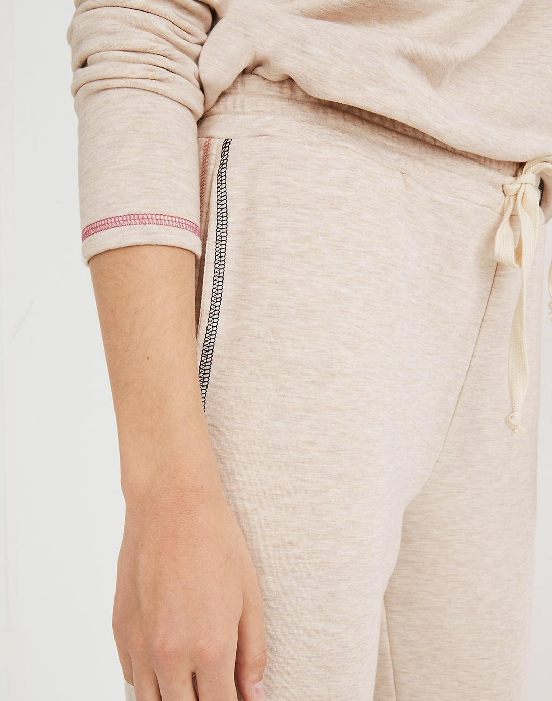MWL Superbrushed Contrast-Stitched Easygoing Sweatpants 3