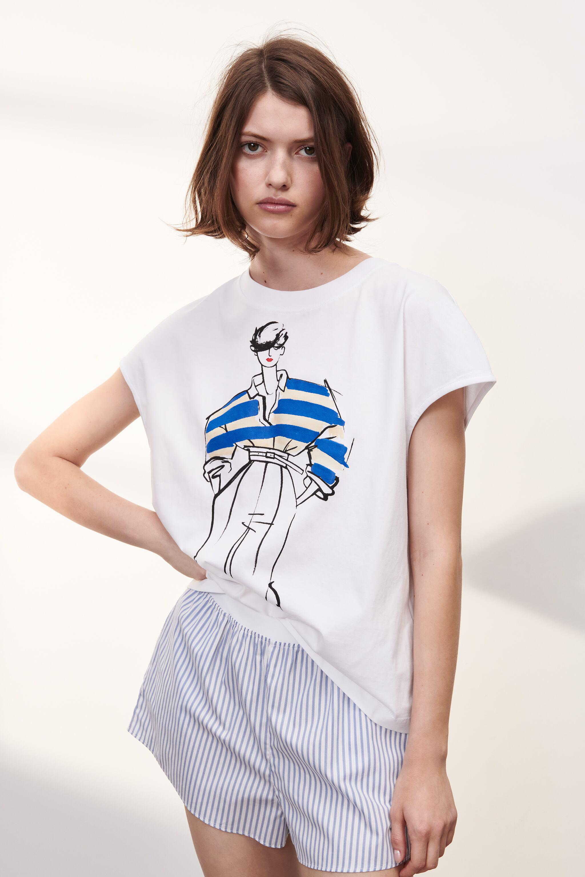 T-SHIRT WITH WOMAN PRINT 1