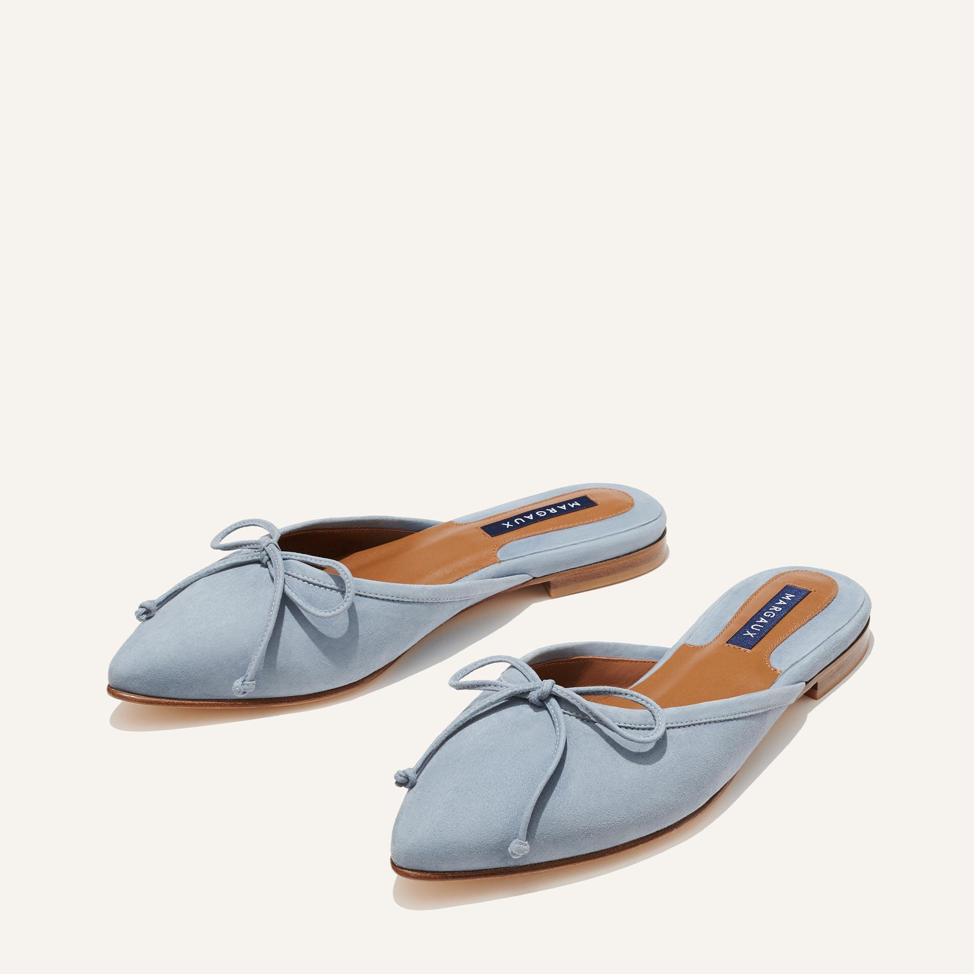 The Ballet Mule - French Blue Suede