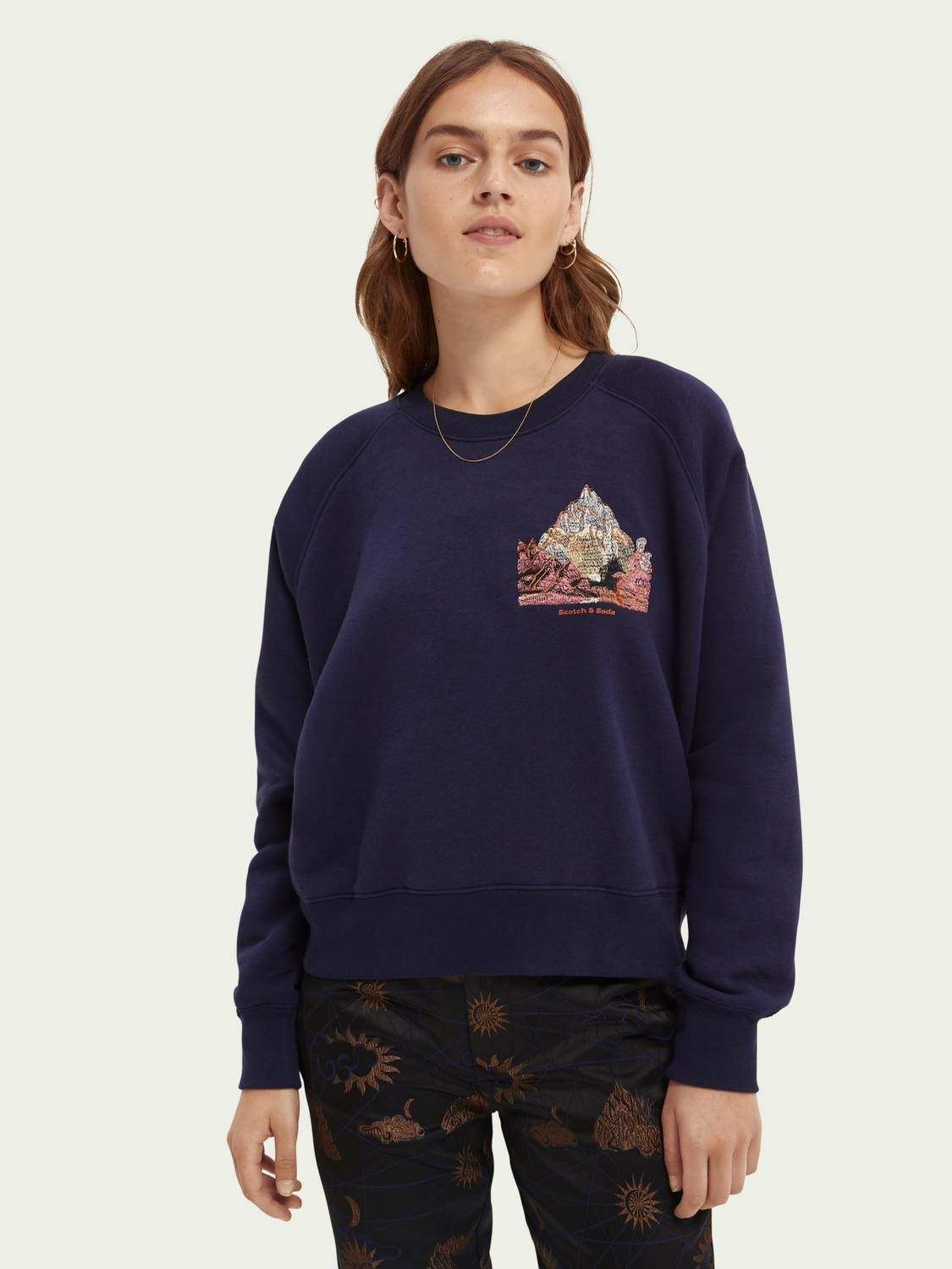 Raglan relaxed-fit sweater