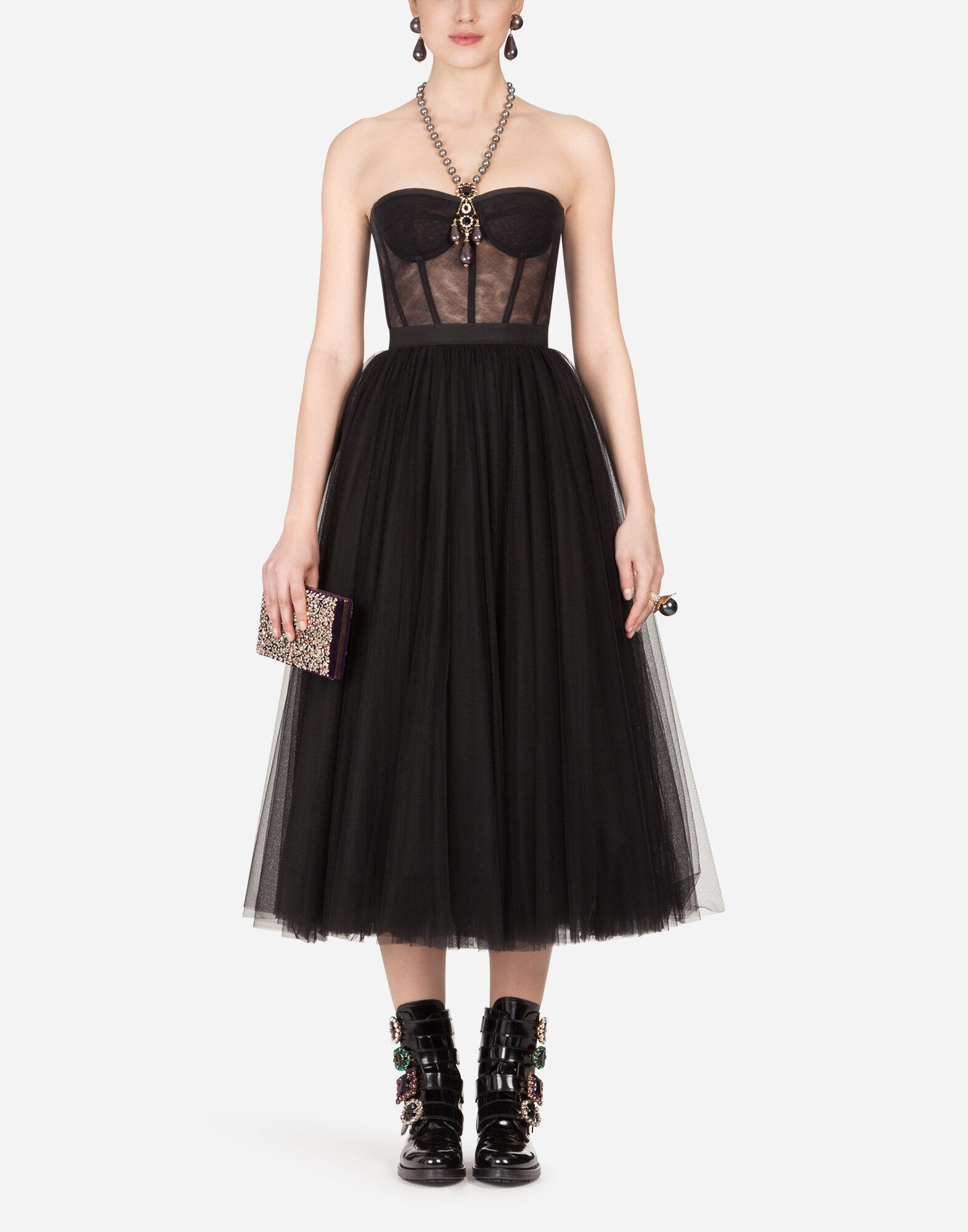 Cotton tulle bustier top 3