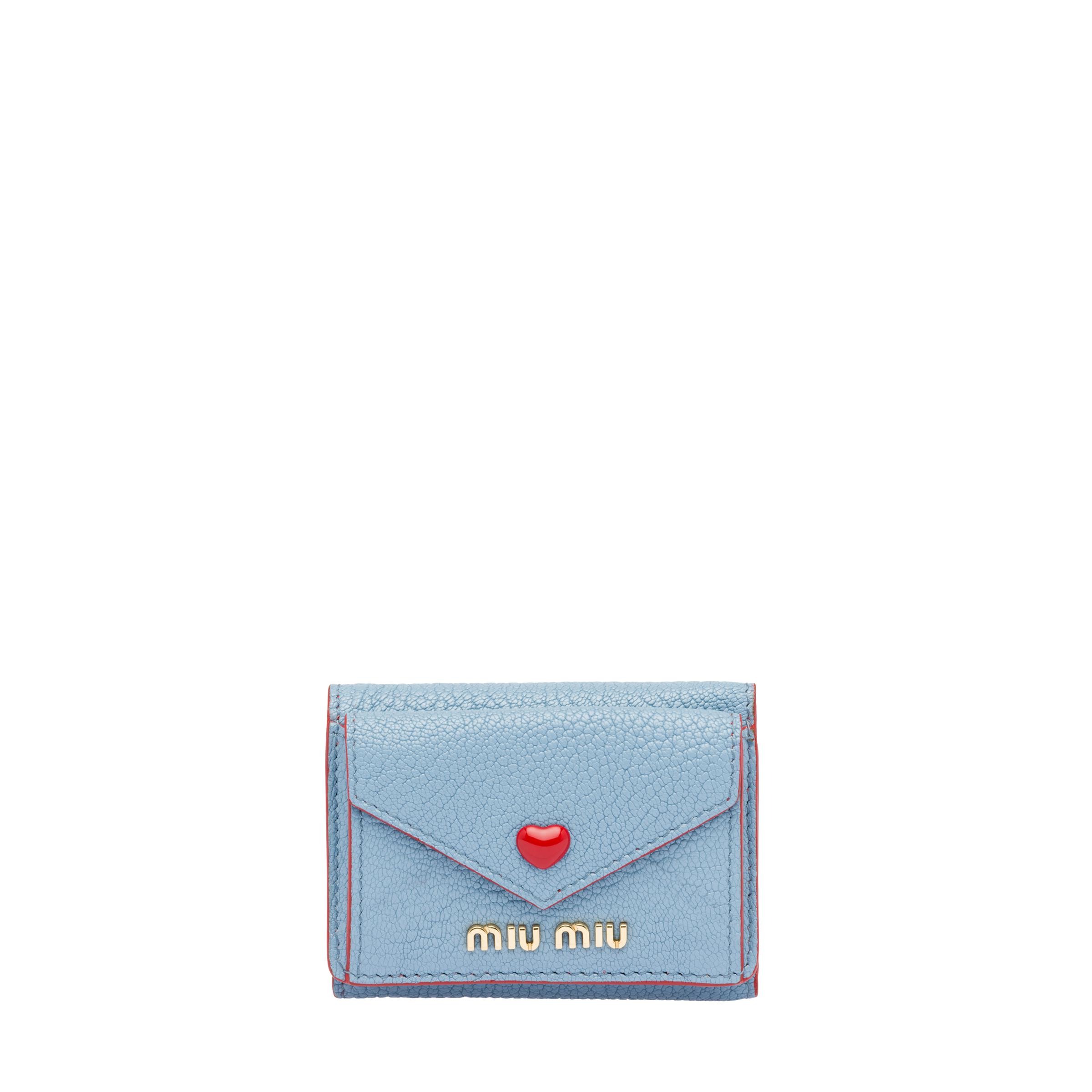 Small Madras Love Wallet Women Astral Blue