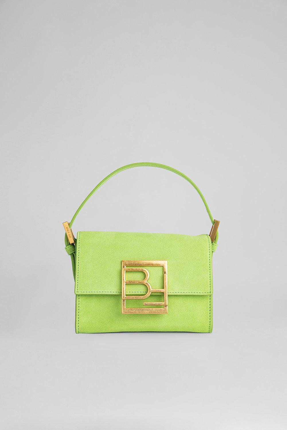 Fran Bright Green Suede Leather