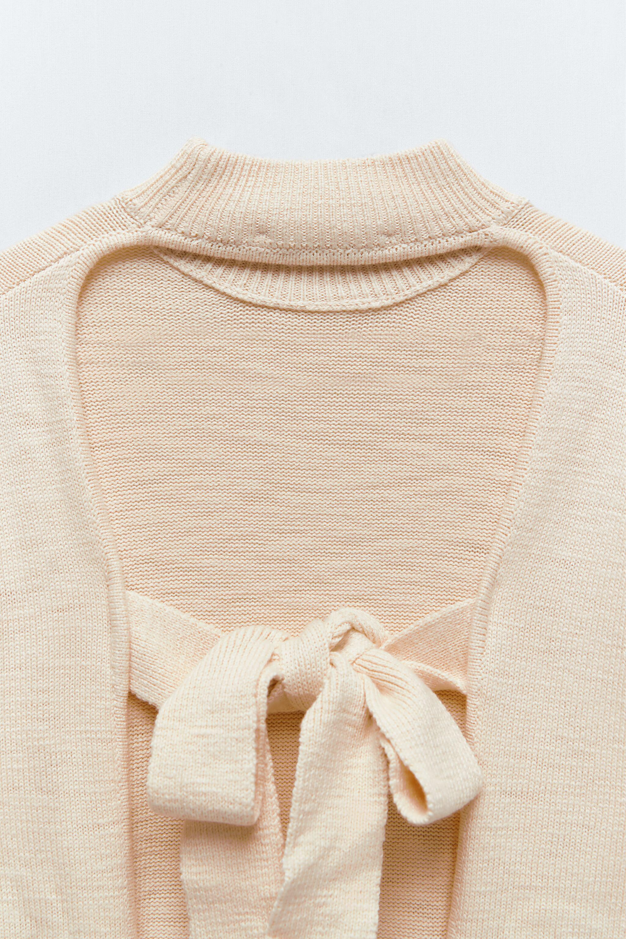 KNIT SWEATER WITH BACK OPENING 7