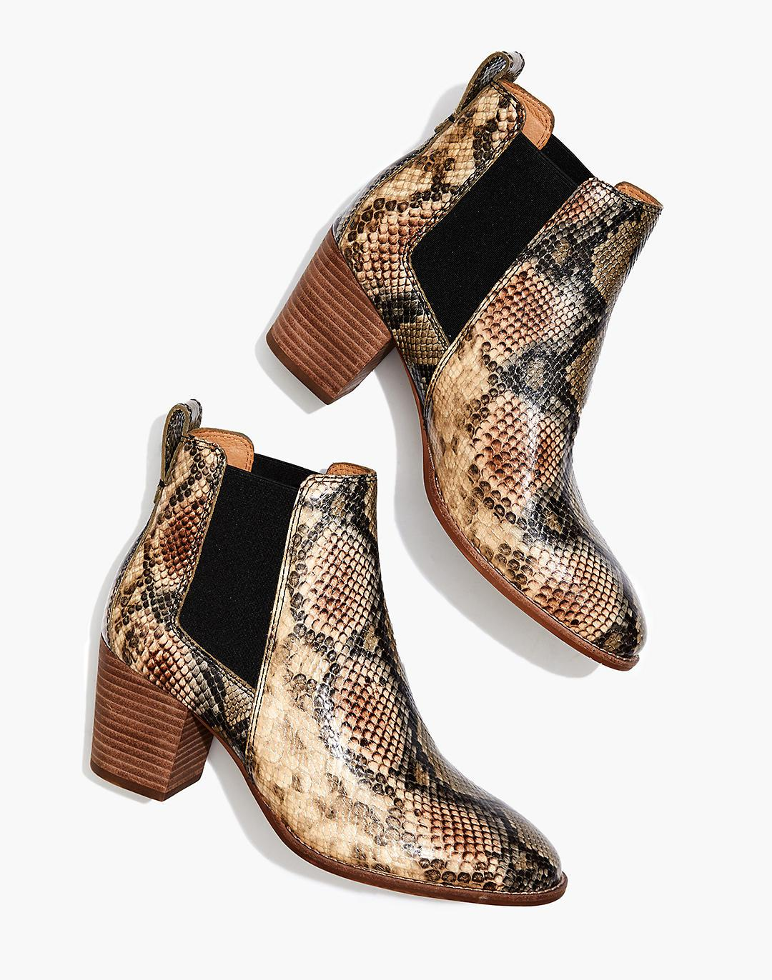 The Regan Boot in Snake Embossed Leather