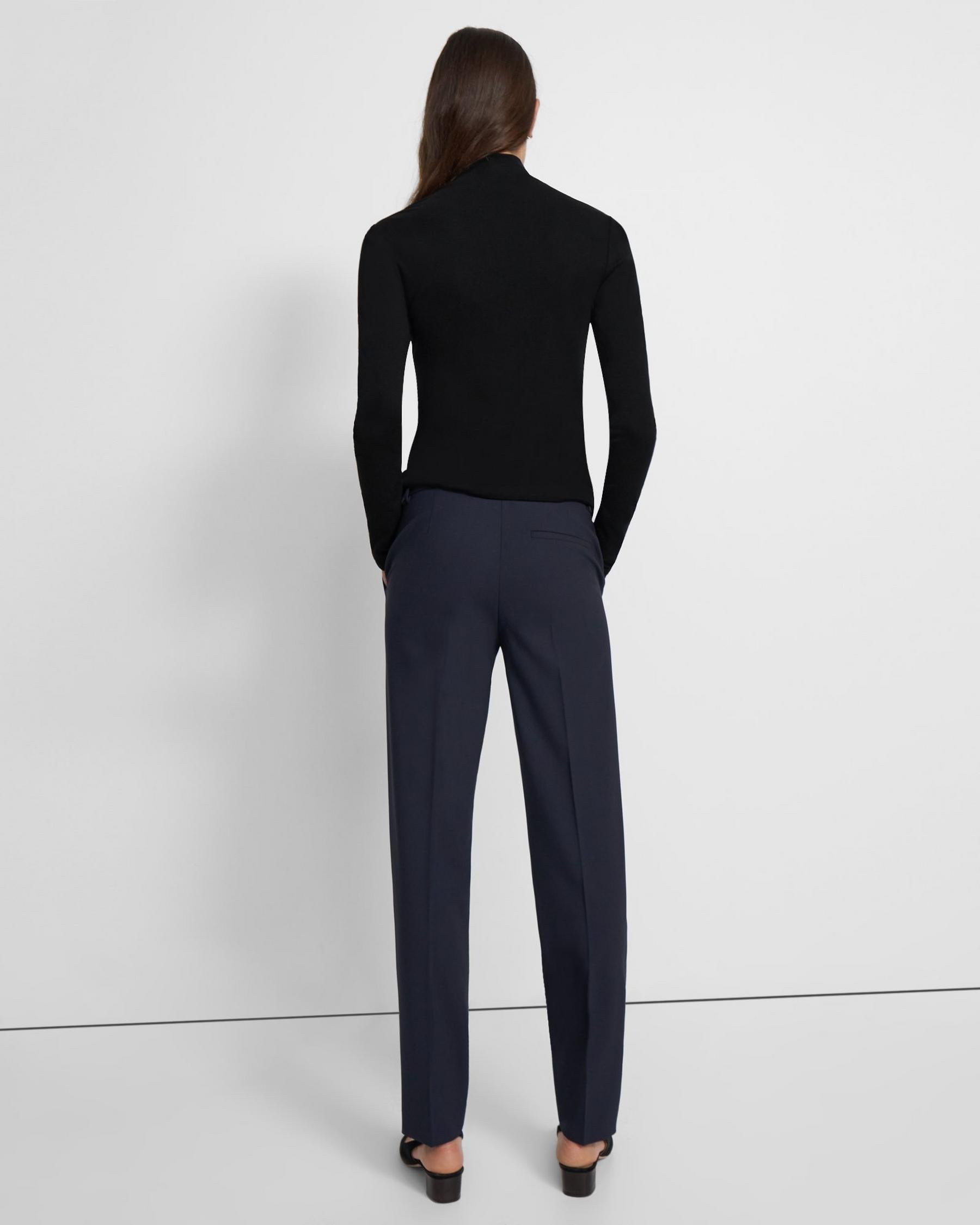 Turtleneck Sweater in Ribbed Viscose 3