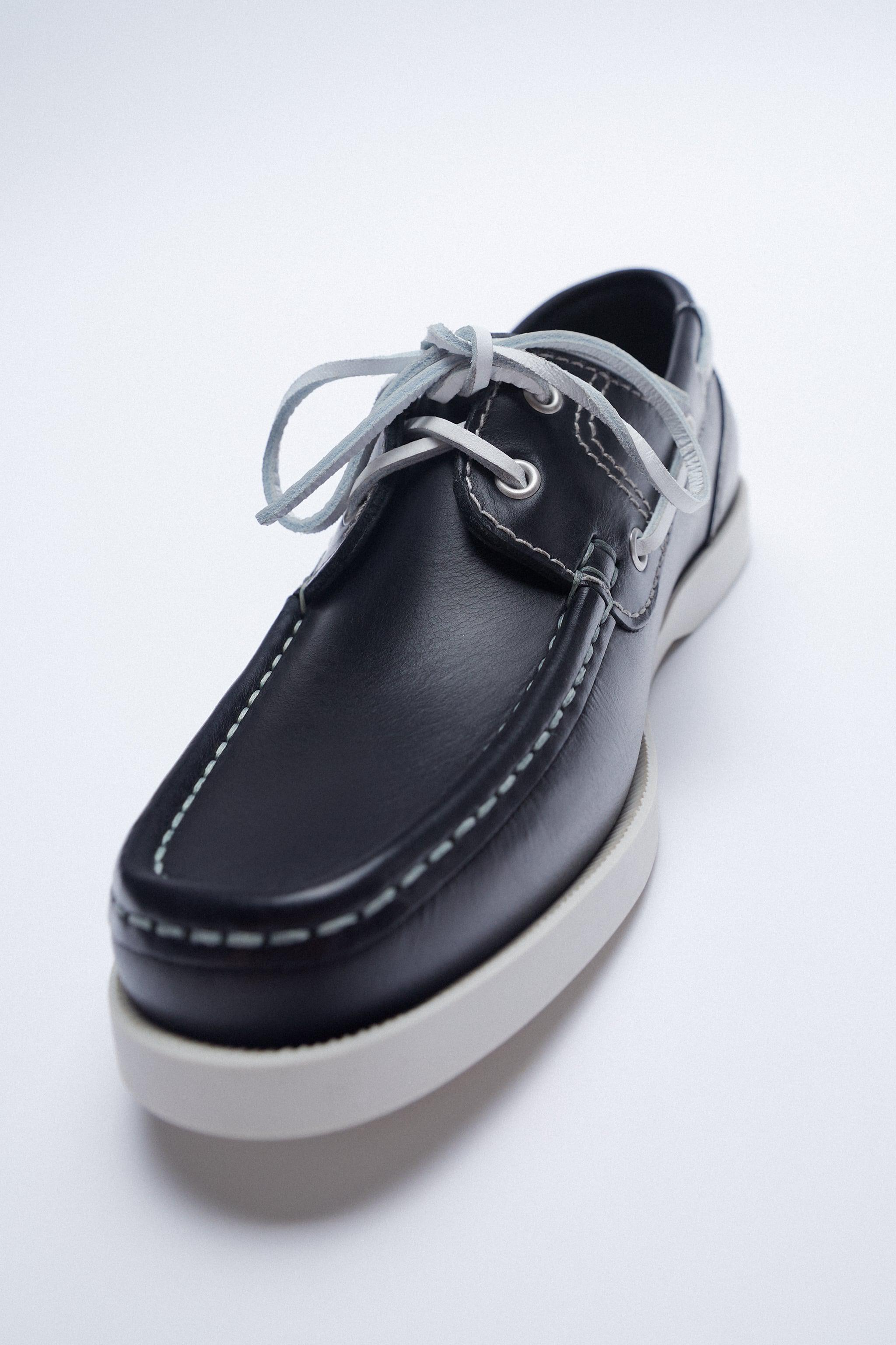 LOW HEEL LEATHER BOAT SHOES 4
